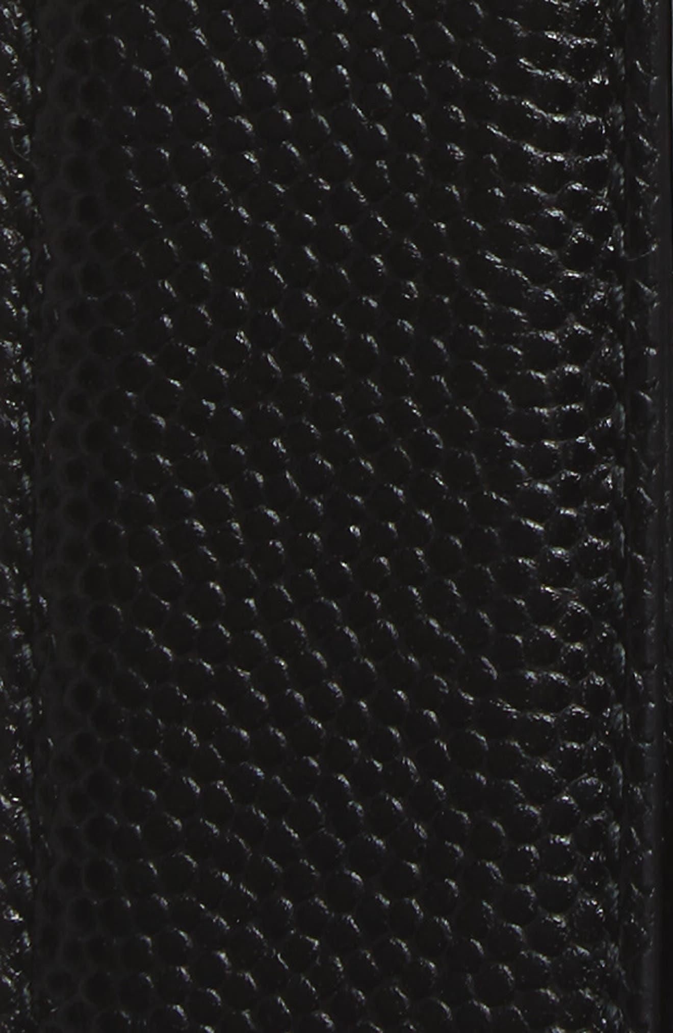Reversible Calfskin Leather Belt,                             Alternate thumbnail 4, color,                             001