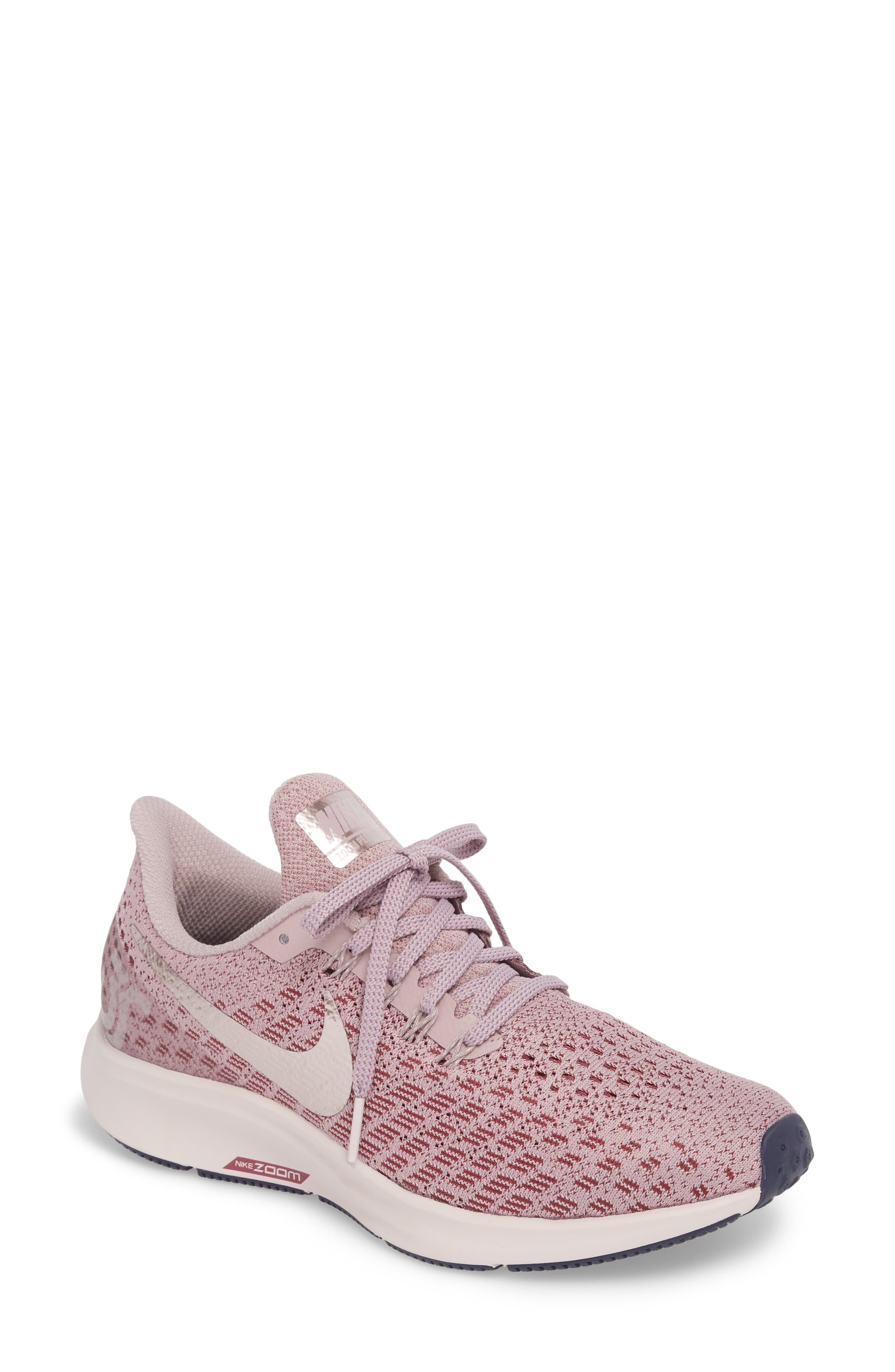 Air Zoom Pegasus 35 Running Shoe,                         Main,                         color, ELEMENTAL ROSE/ BARELY ROSE