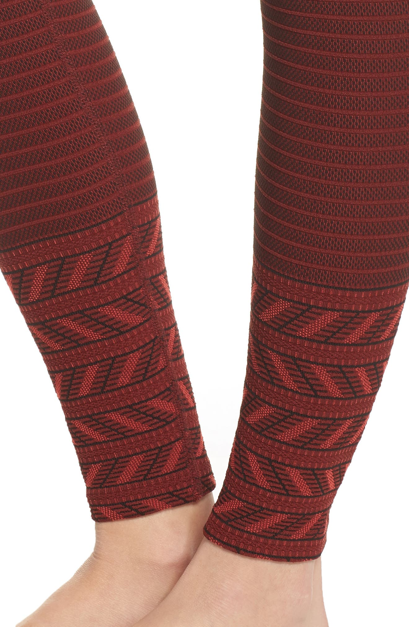 Desert Border High Waist Leggings,                             Alternate thumbnail 4, color,                             620