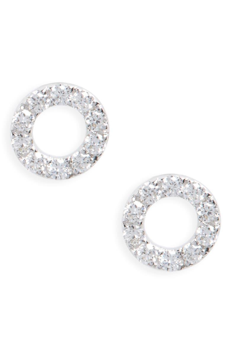 Simple Obsessions Geo Circle Diamond Stud Earrings