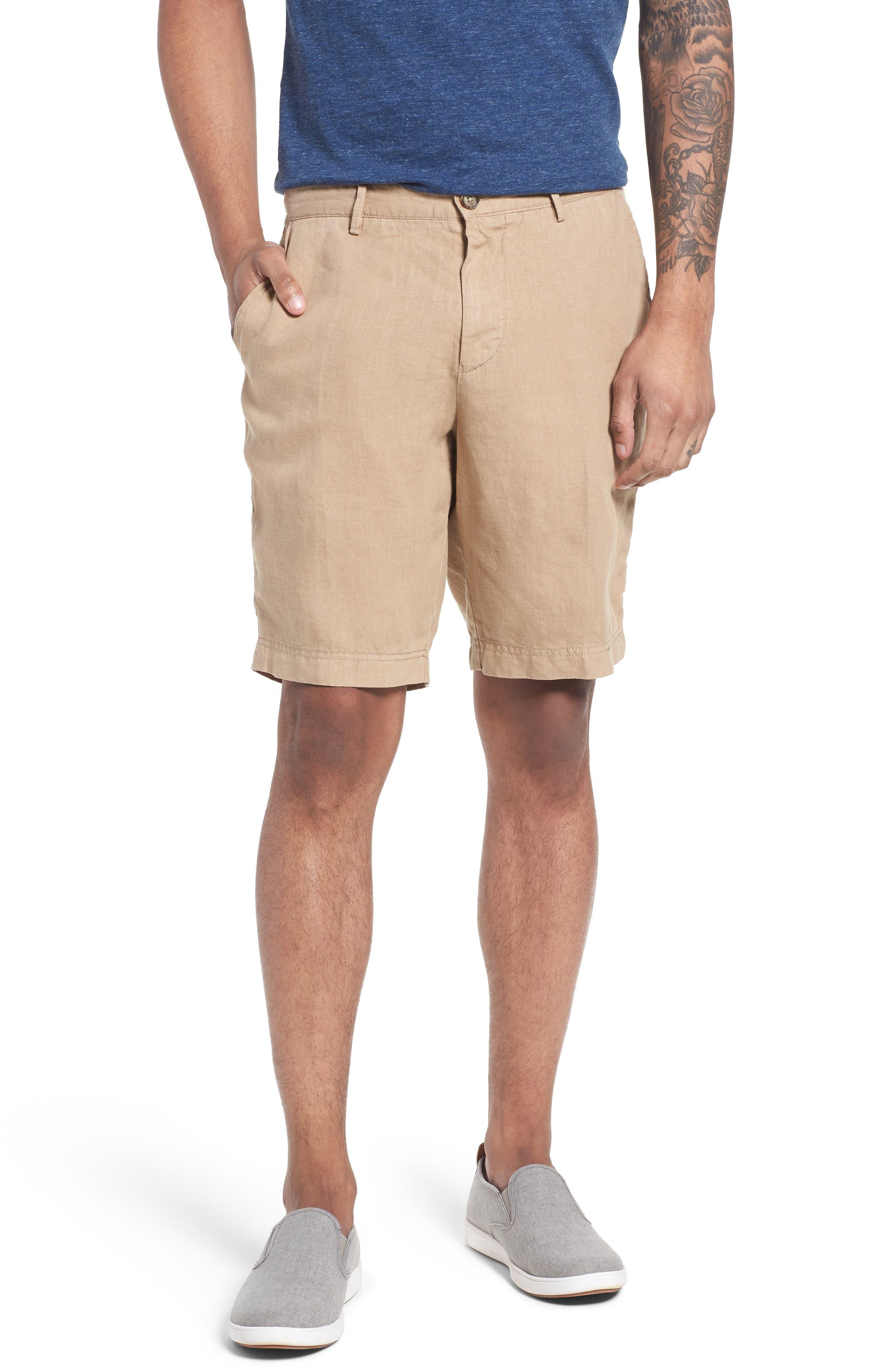 Crigan Linen Shorts,                             Main thumbnail 4, color,