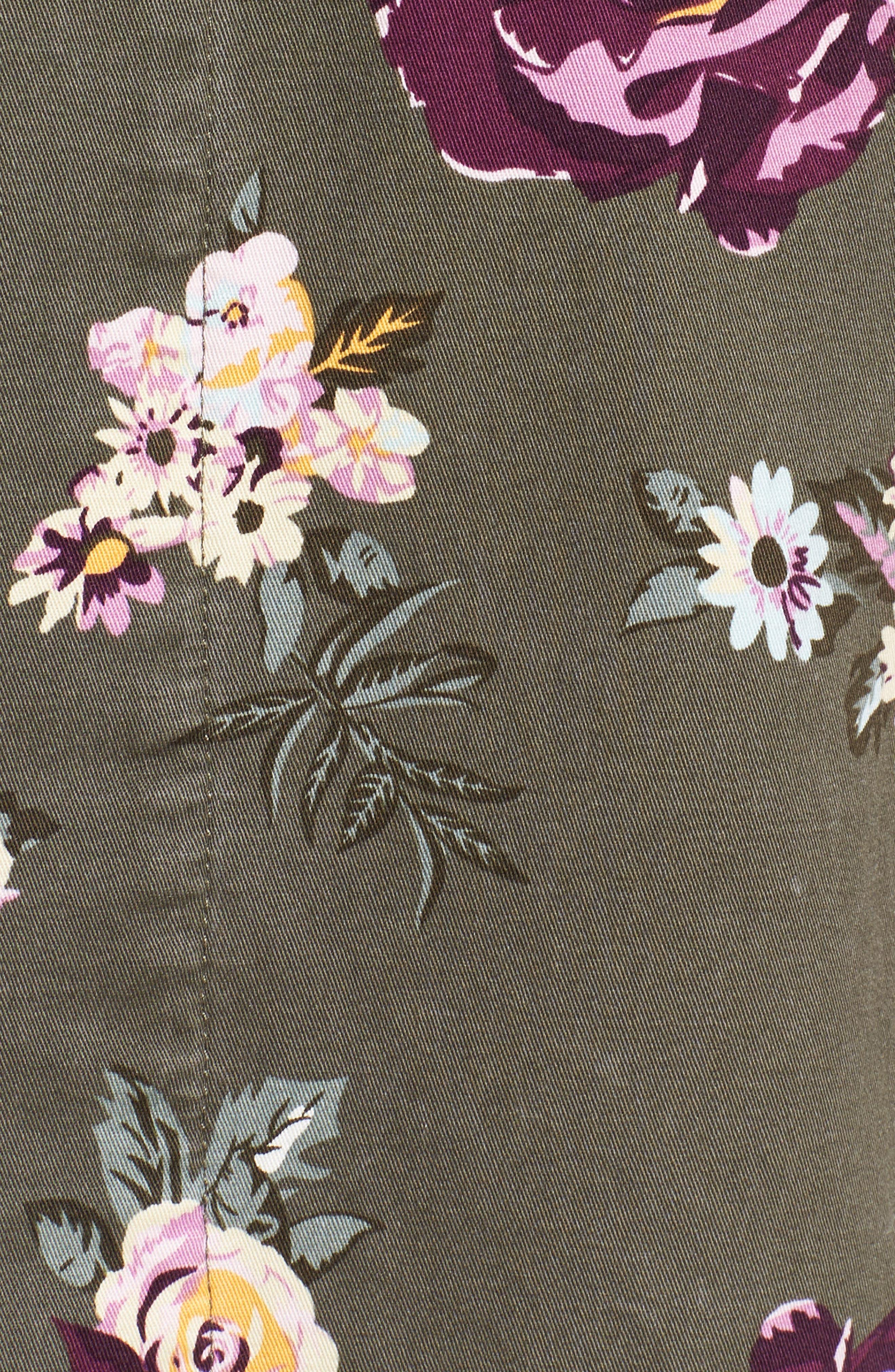 Oversize Cotton Canvas Camo Shirt Jacket,                             Alternate thumbnail 7, color,                             303