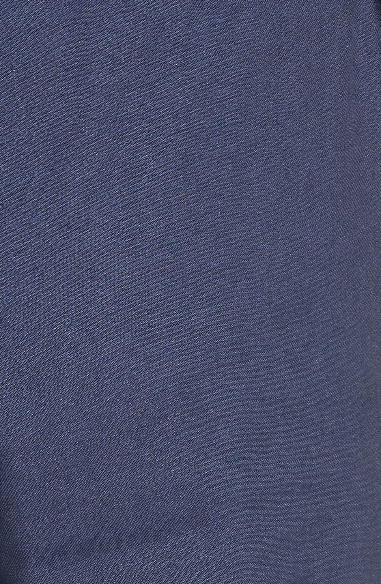 Linen Blend Wide Leg Crop Pants,                             Alternate thumbnail 5, color,                             400