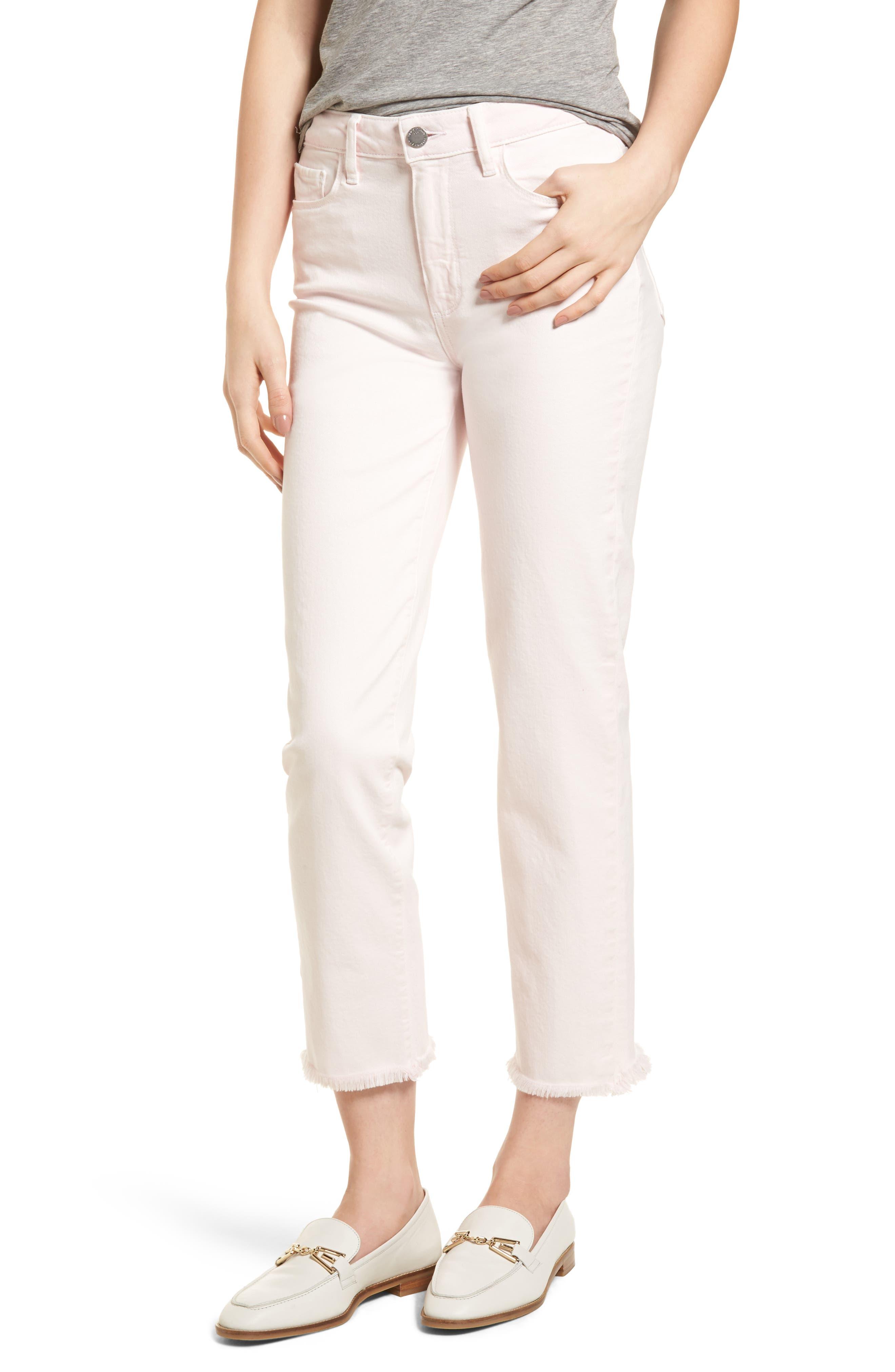 Hoxton High Waist Ankle Straight Leg Jeans,                         Main,                         color, 650