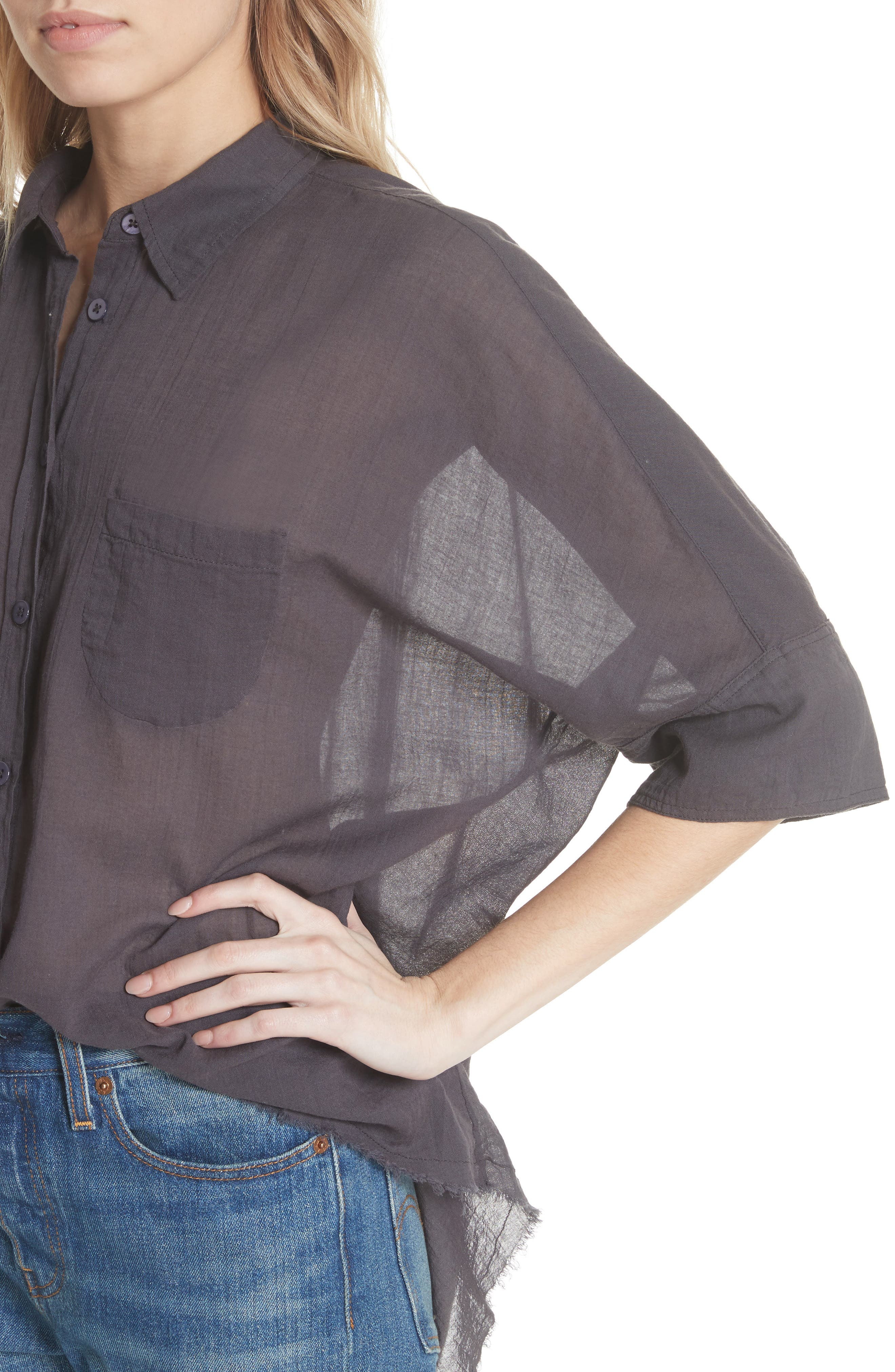 Best of Me Button Down Shirt,                             Alternate thumbnail 4, color,                             001