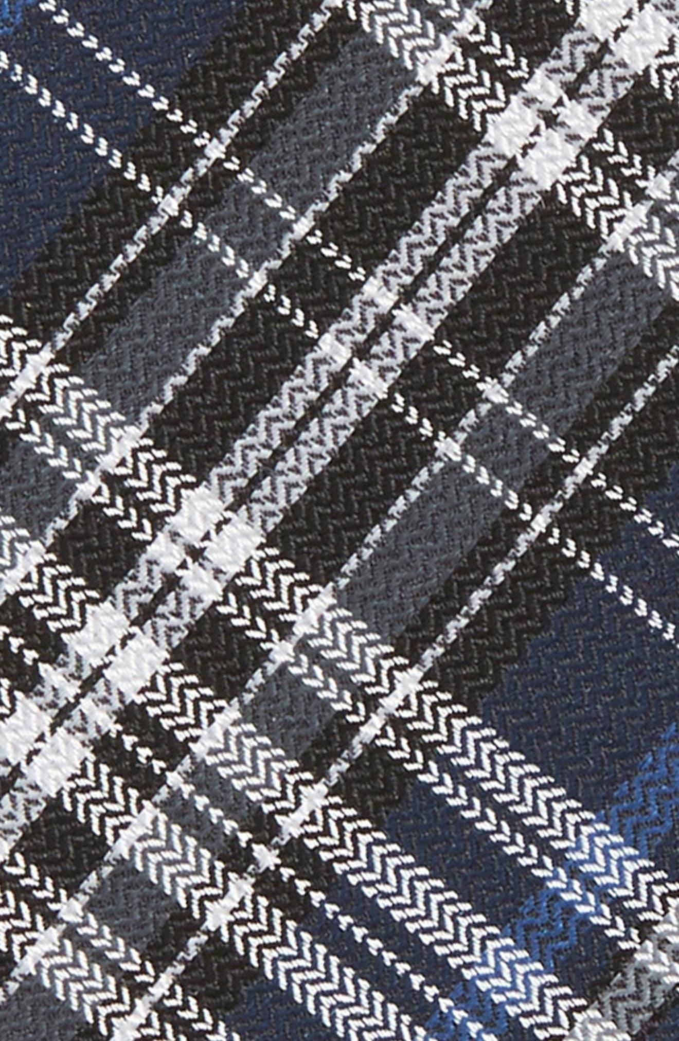 THE TIE BAR,                             Motley Plaid Silk Bow Tie,                             Alternate thumbnail 3, color,                             410