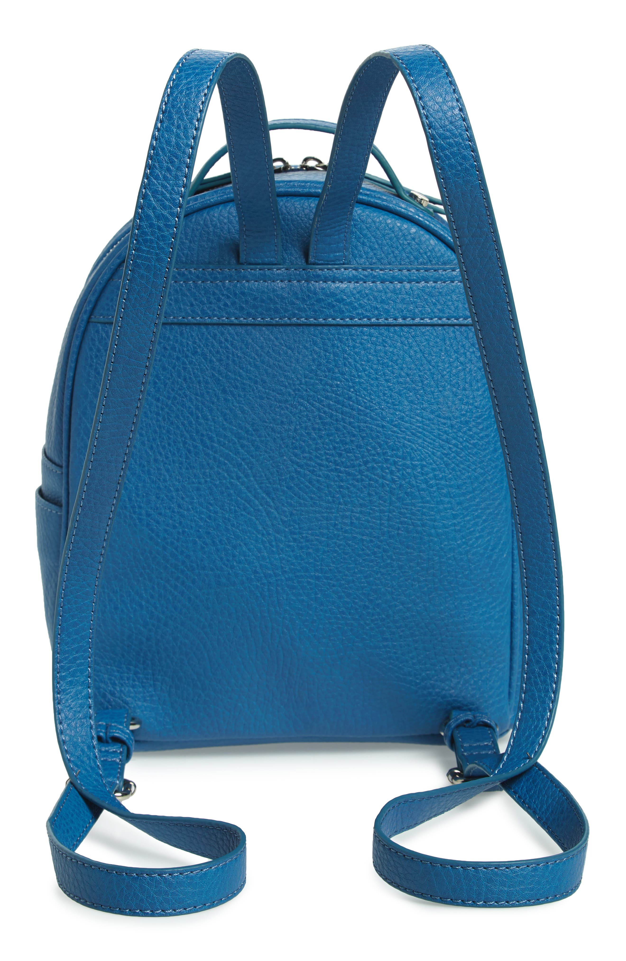 Mali + Lili Hannah Vegan Leather Backpack,                             Alternate thumbnail 3, color,                             FRENCH BLUE
