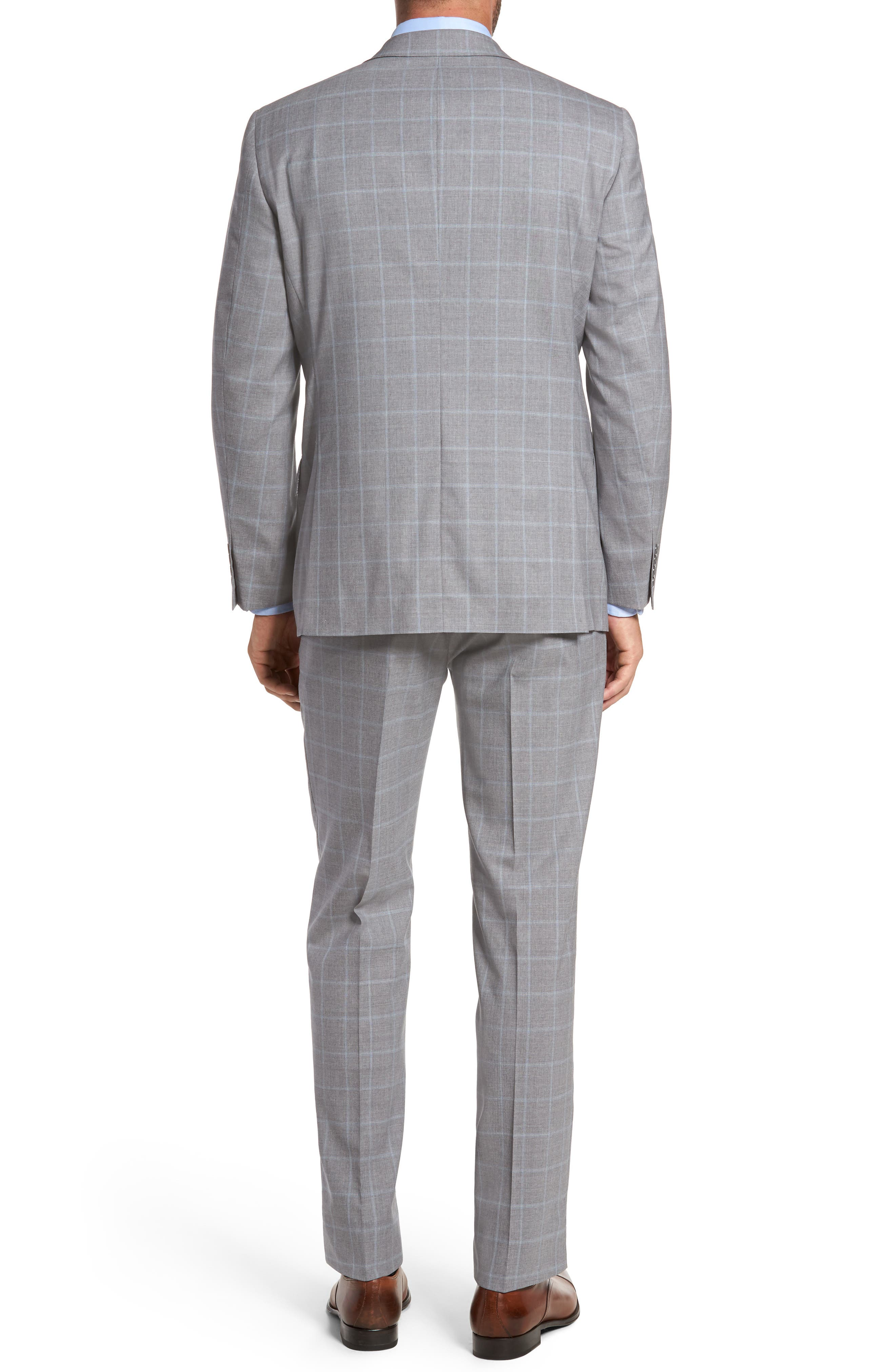 Classic Fit Windowpane Wool Suit,                             Alternate thumbnail 2, color,                             050