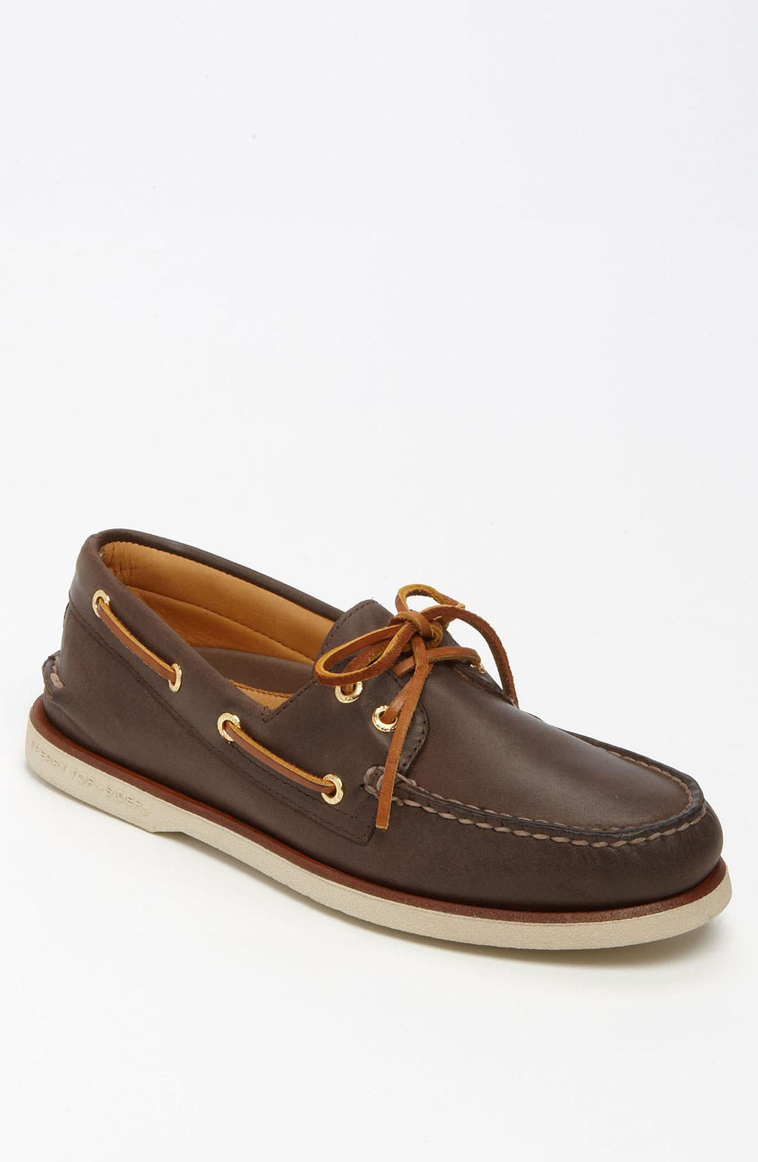 'Gold Cup - Authentic Original' Boat Shoe,                         Main,                         color, DARK BROWN LEATHER
