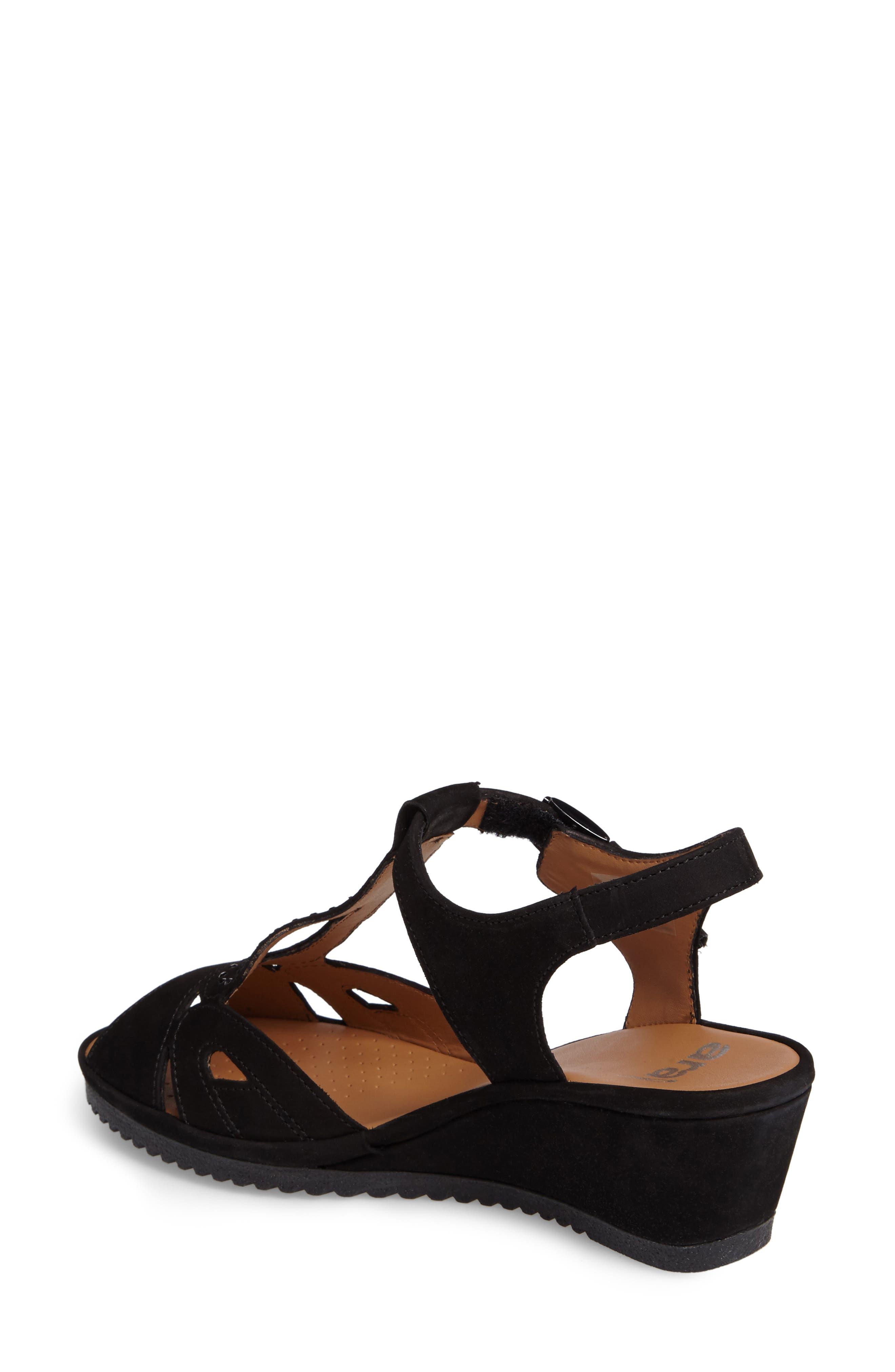 Wedge Sandal,                             Alternate thumbnail 2, color,                             BLACK