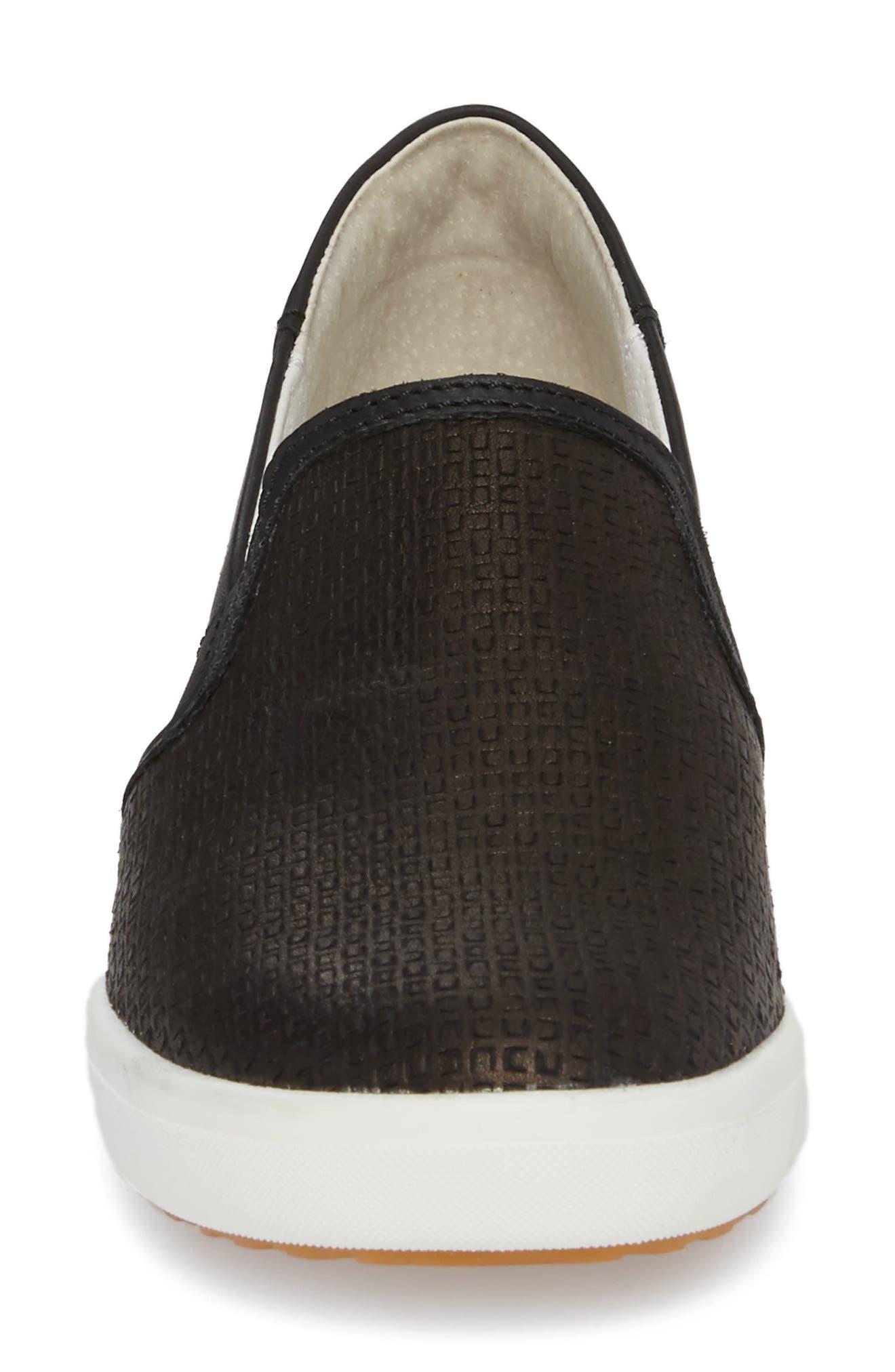 Sina 39 Sneaker,                             Alternate thumbnail 4, color,                             BLACK LEATHER
