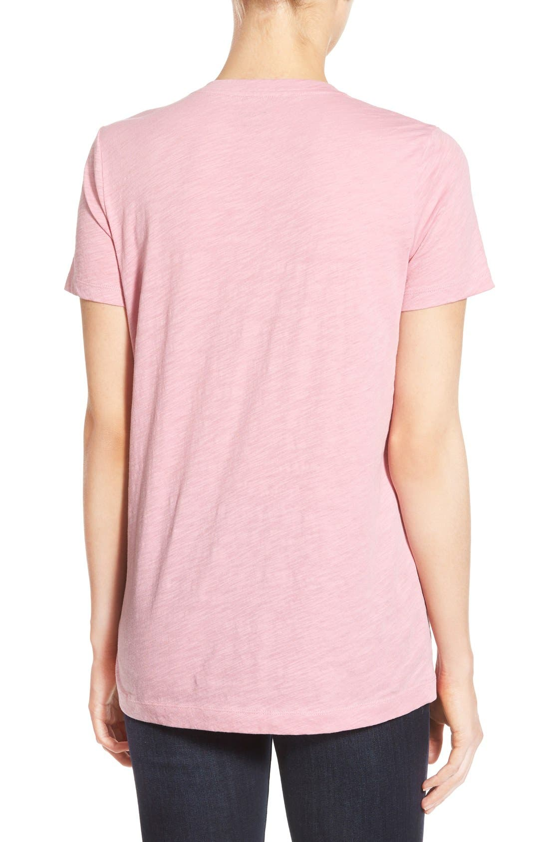Whisper Cotton V-Neck Pocket Tee,                             Alternate thumbnail 120, color,