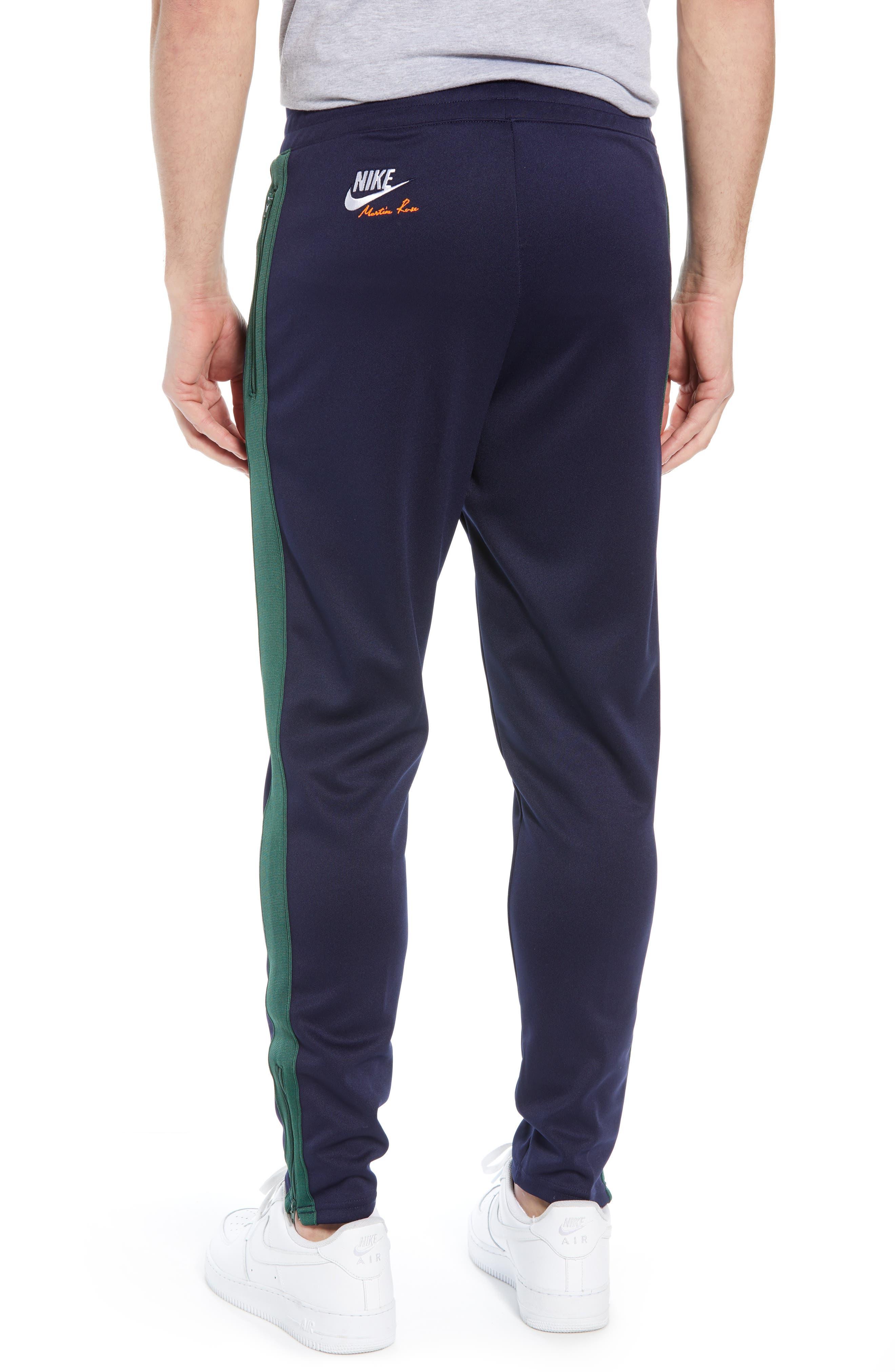 NIKE,                             x Martine Rose Men's Track Pants,                             Alternate thumbnail 2, color,                             BLACKENED BLUE/ FIR