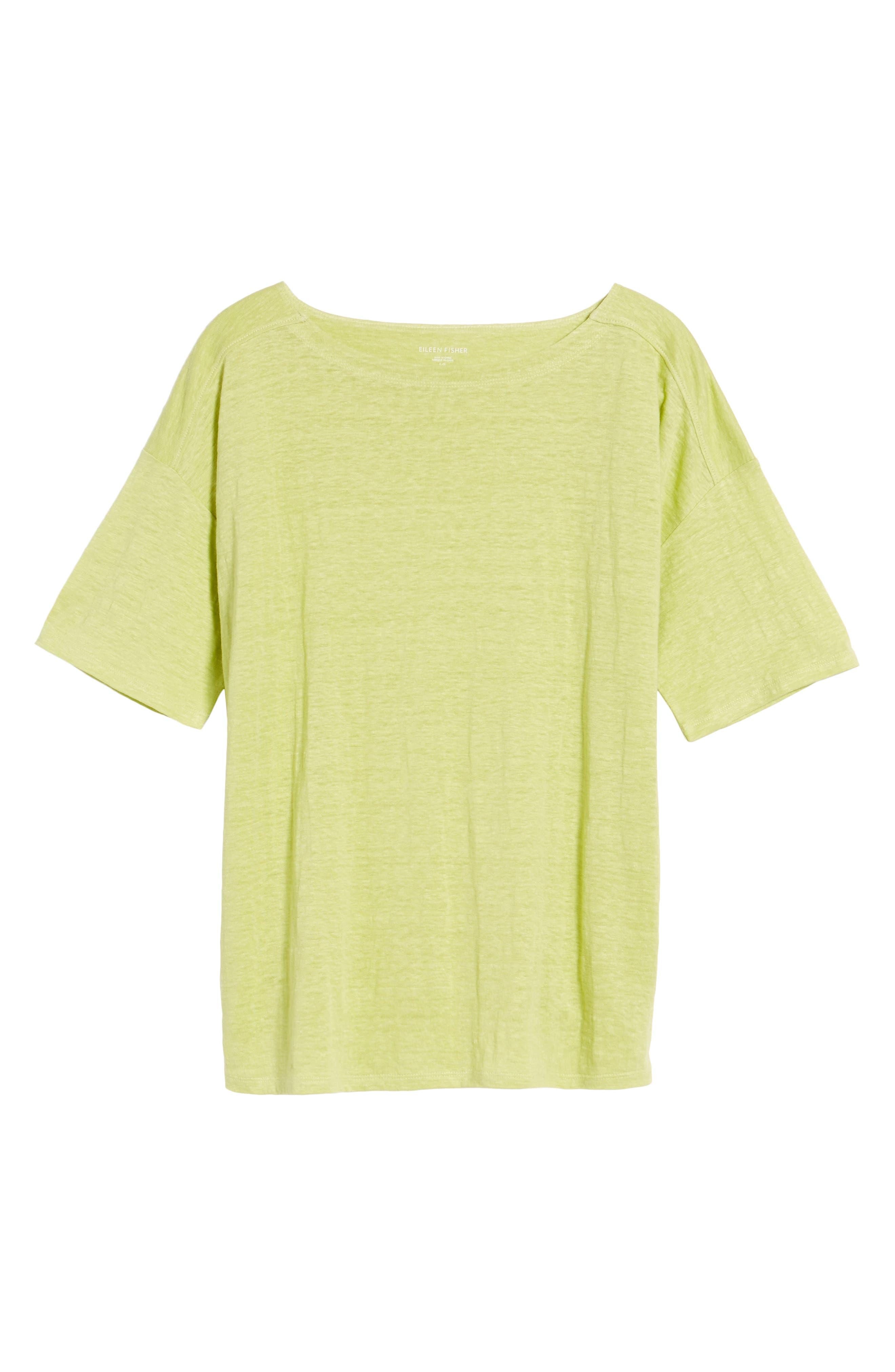 Slouchy Organic Linen Top,                             Alternate thumbnail 35, color,