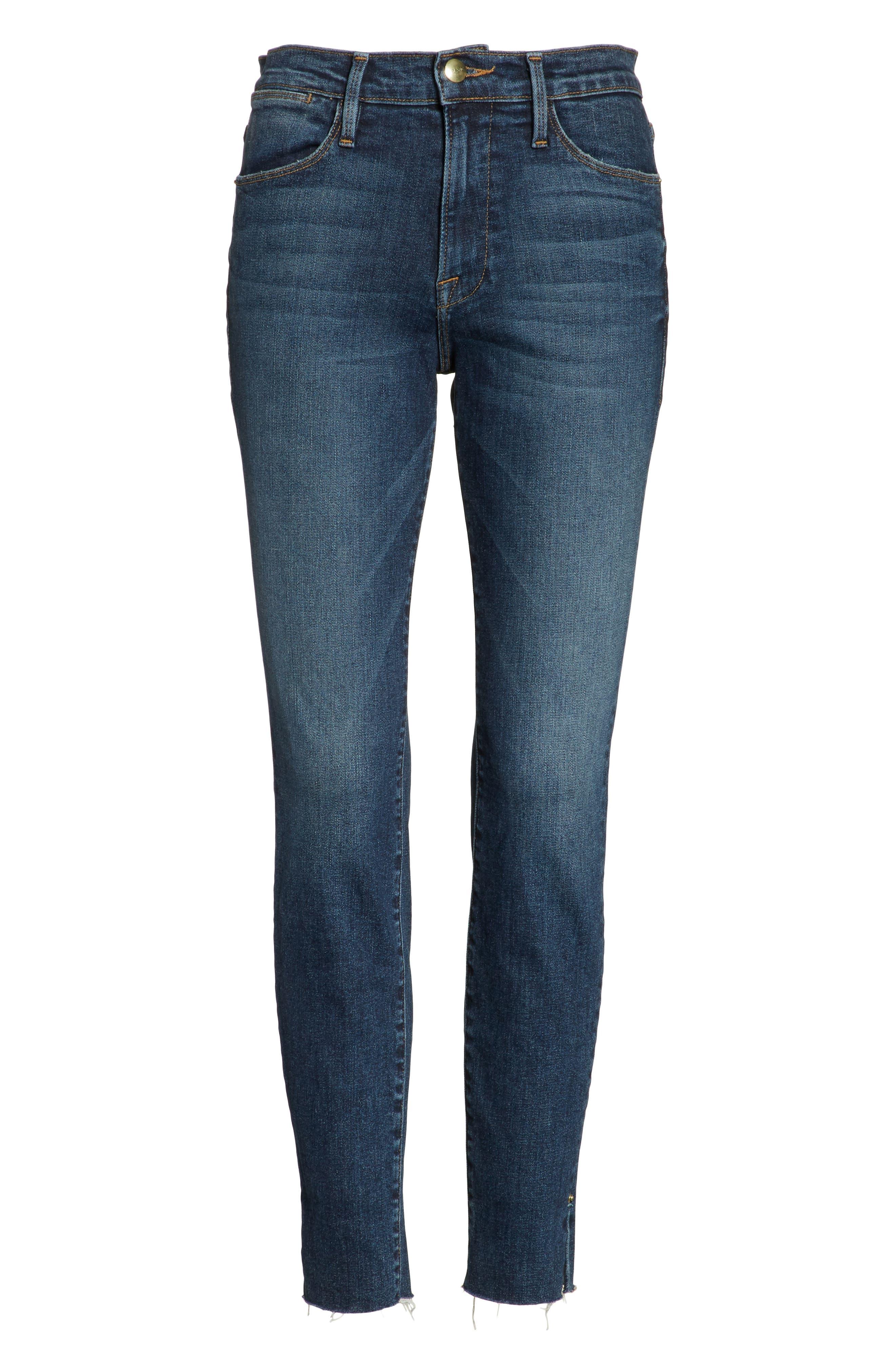Le High Slit Ankle Skinny Jeans,                             Alternate thumbnail 6, color,