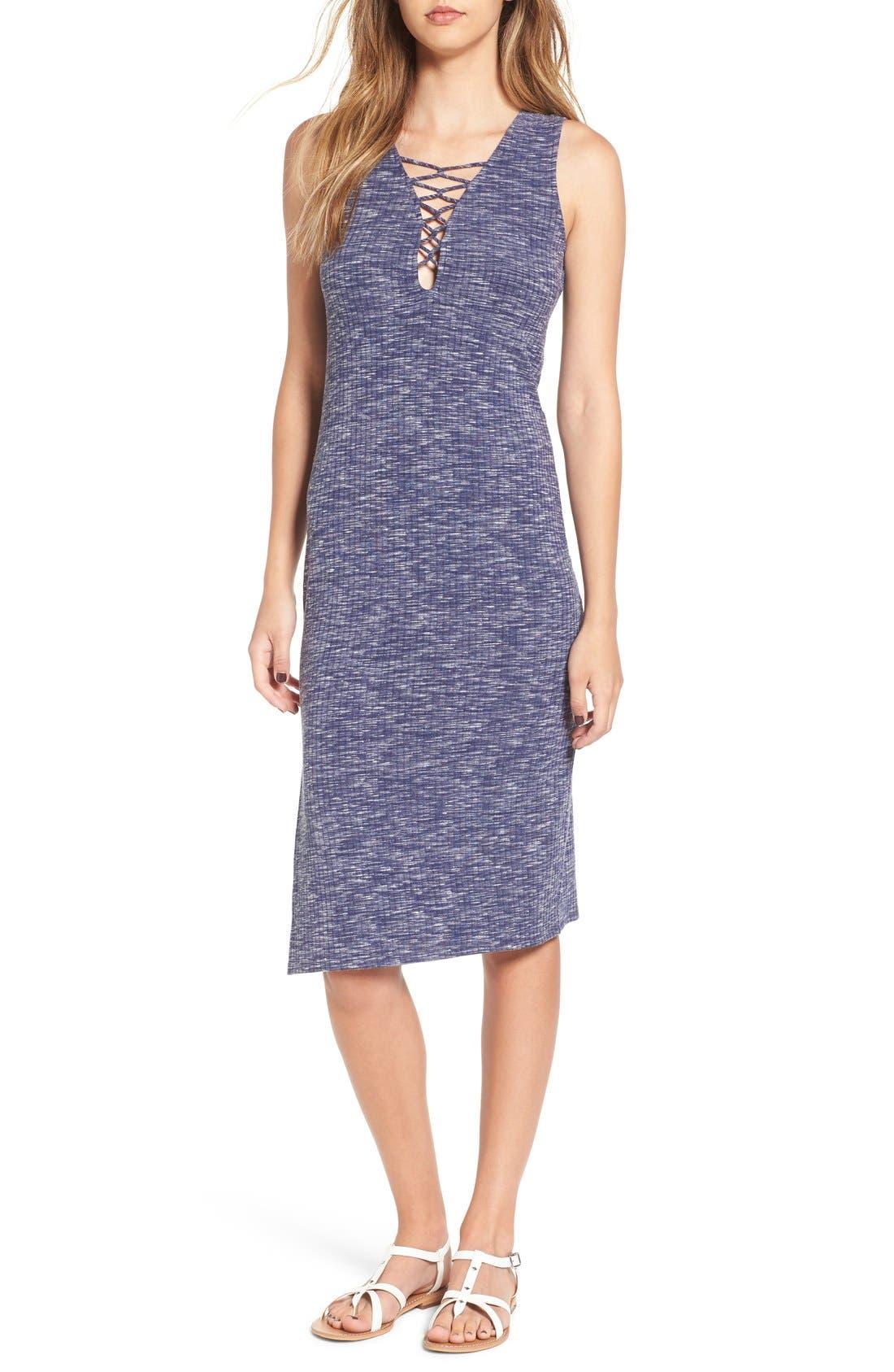 SUN & SHADOW,                             Strappy Tank Midi Dress,                             Main thumbnail 1, color,                             450