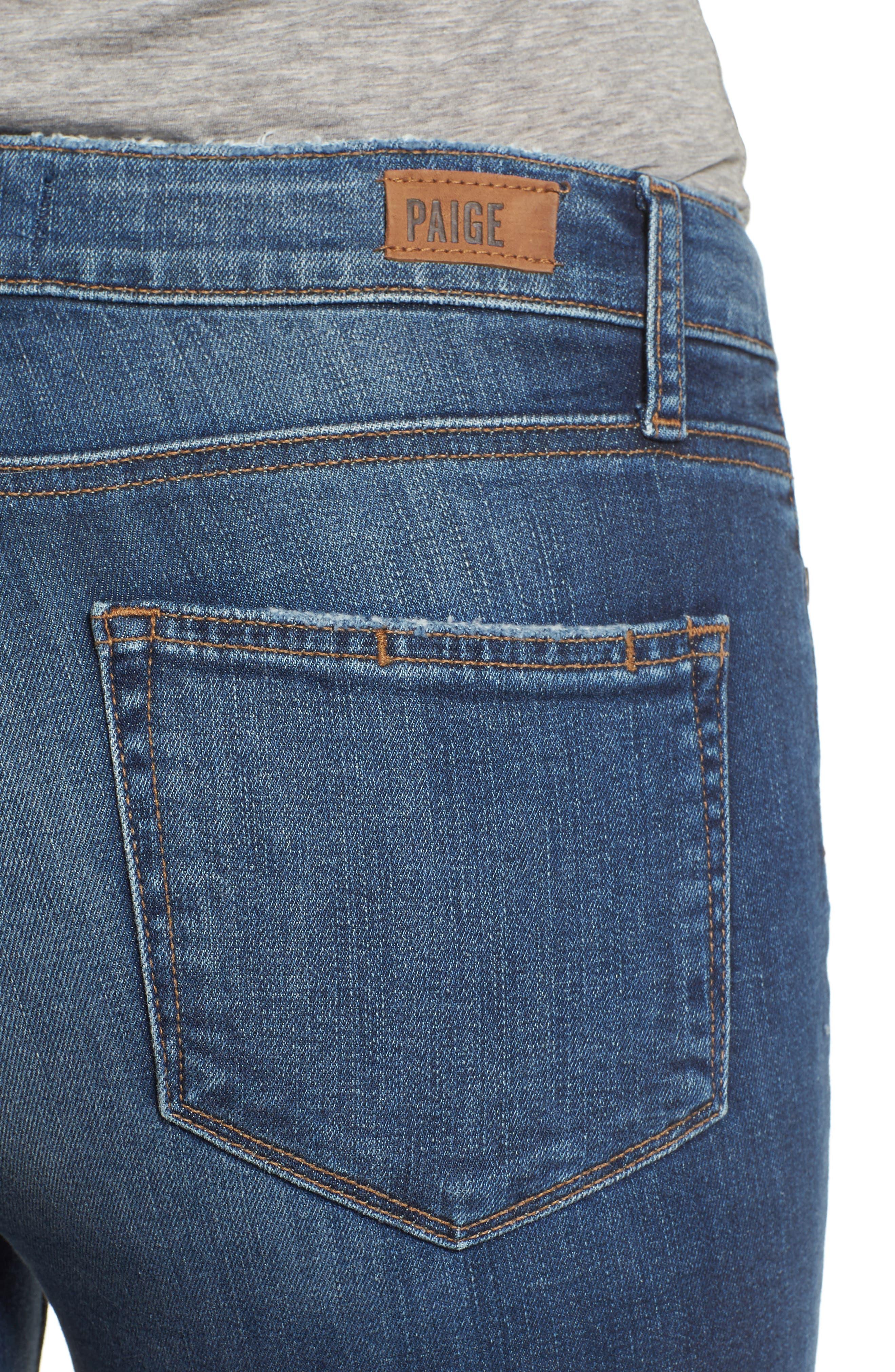 Transcend - Hoxton High Waist Crop Skinny Jeans,                             Alternate thumbnail 4, color,                             400