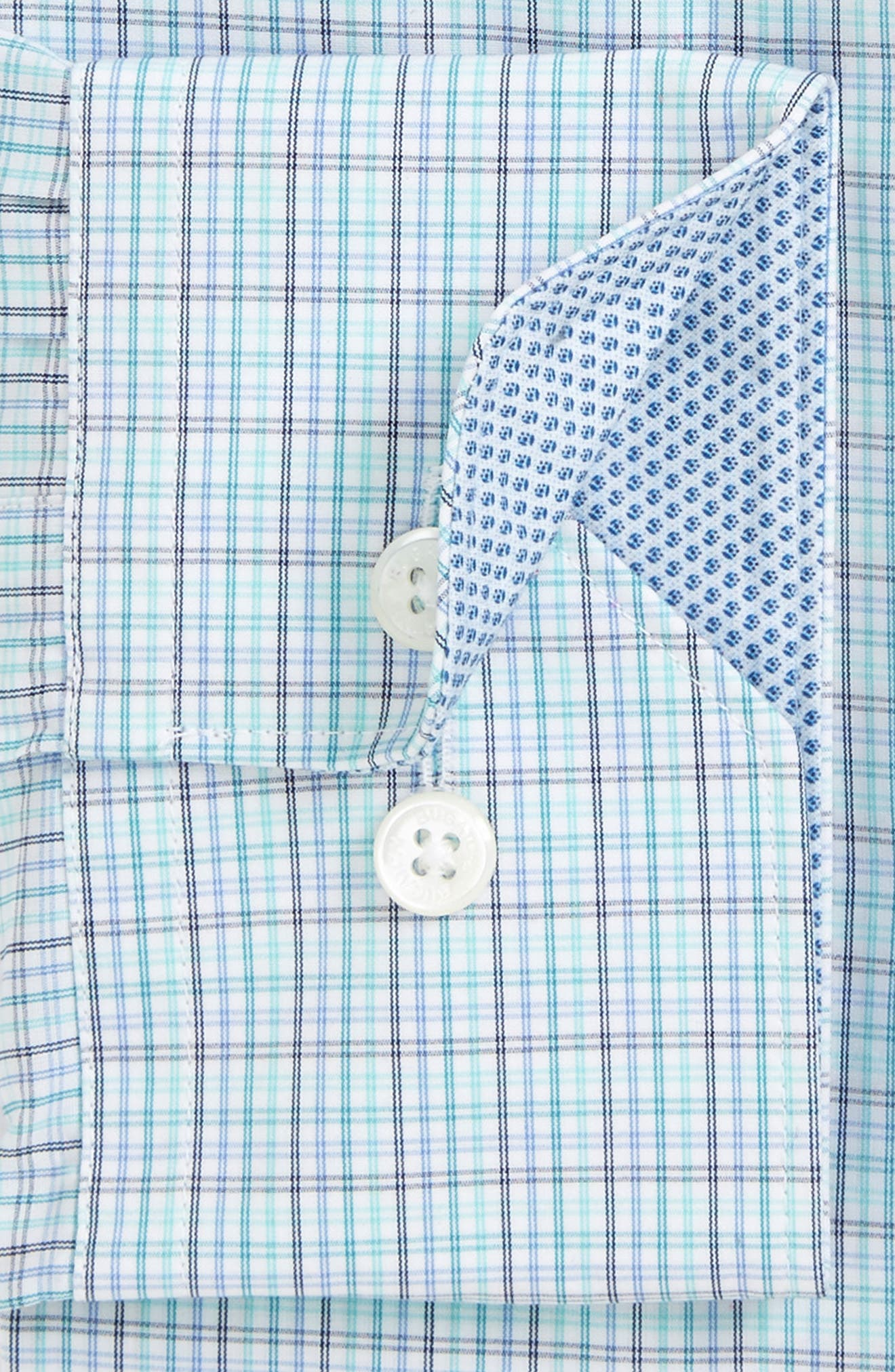 Trim Fit Check Dress Shirt,                             Main thumbnail 1, color,                             329