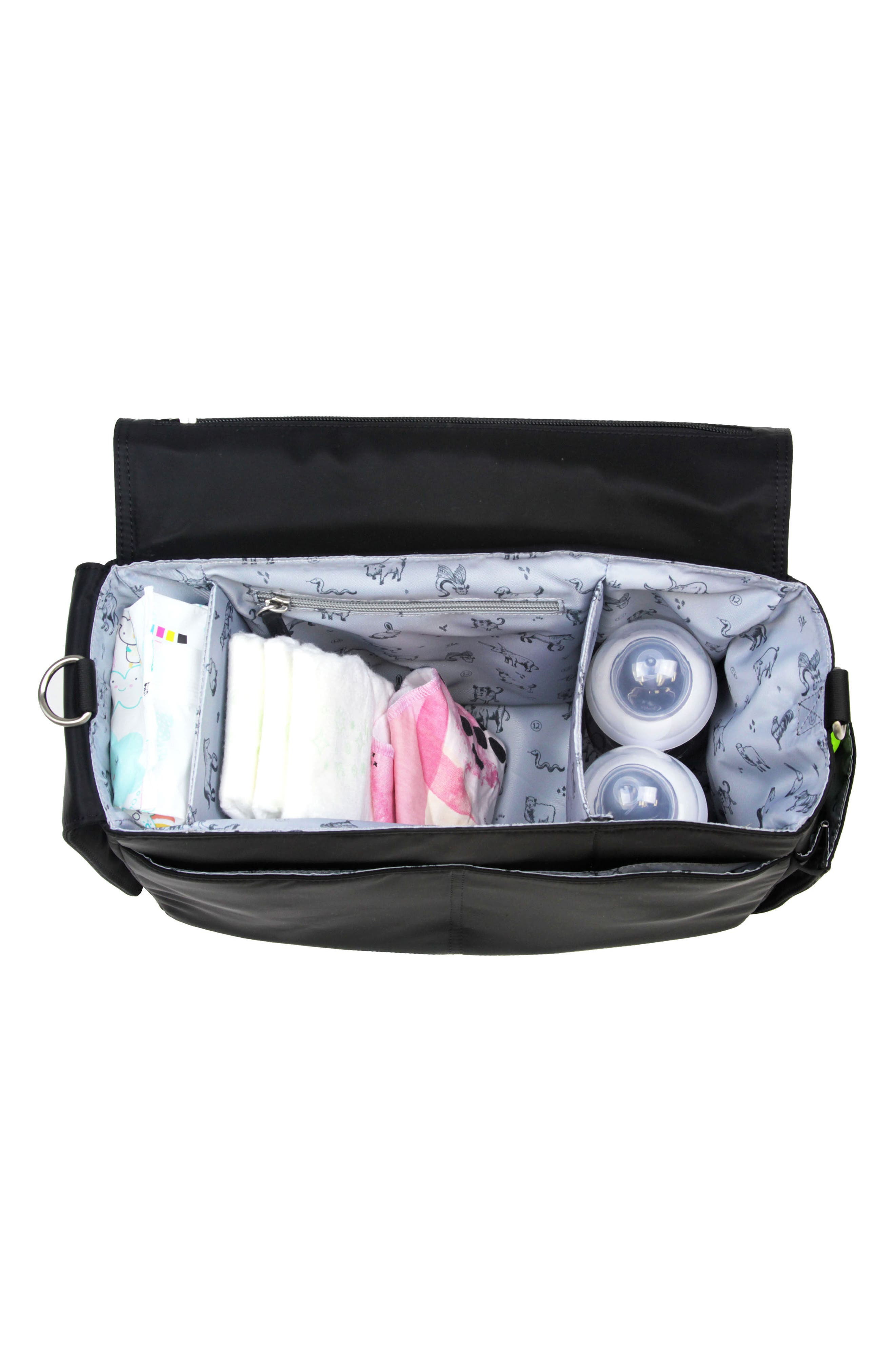On-the-Go Water Resistant Stroller Caddy,                             Alternate thumbnail 4, color,                             BLACK