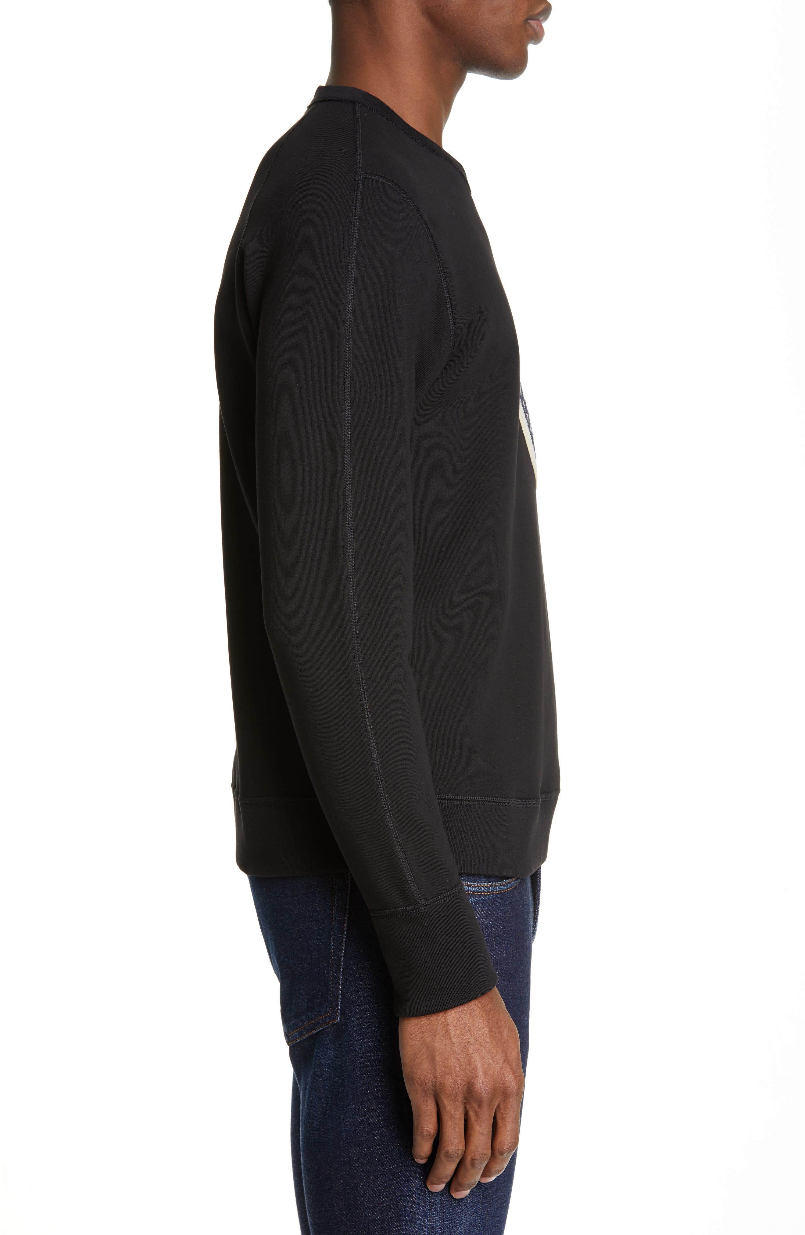 Maglia Sweatshirt,                             Alternate thumbnail 3, color,                             BLACK