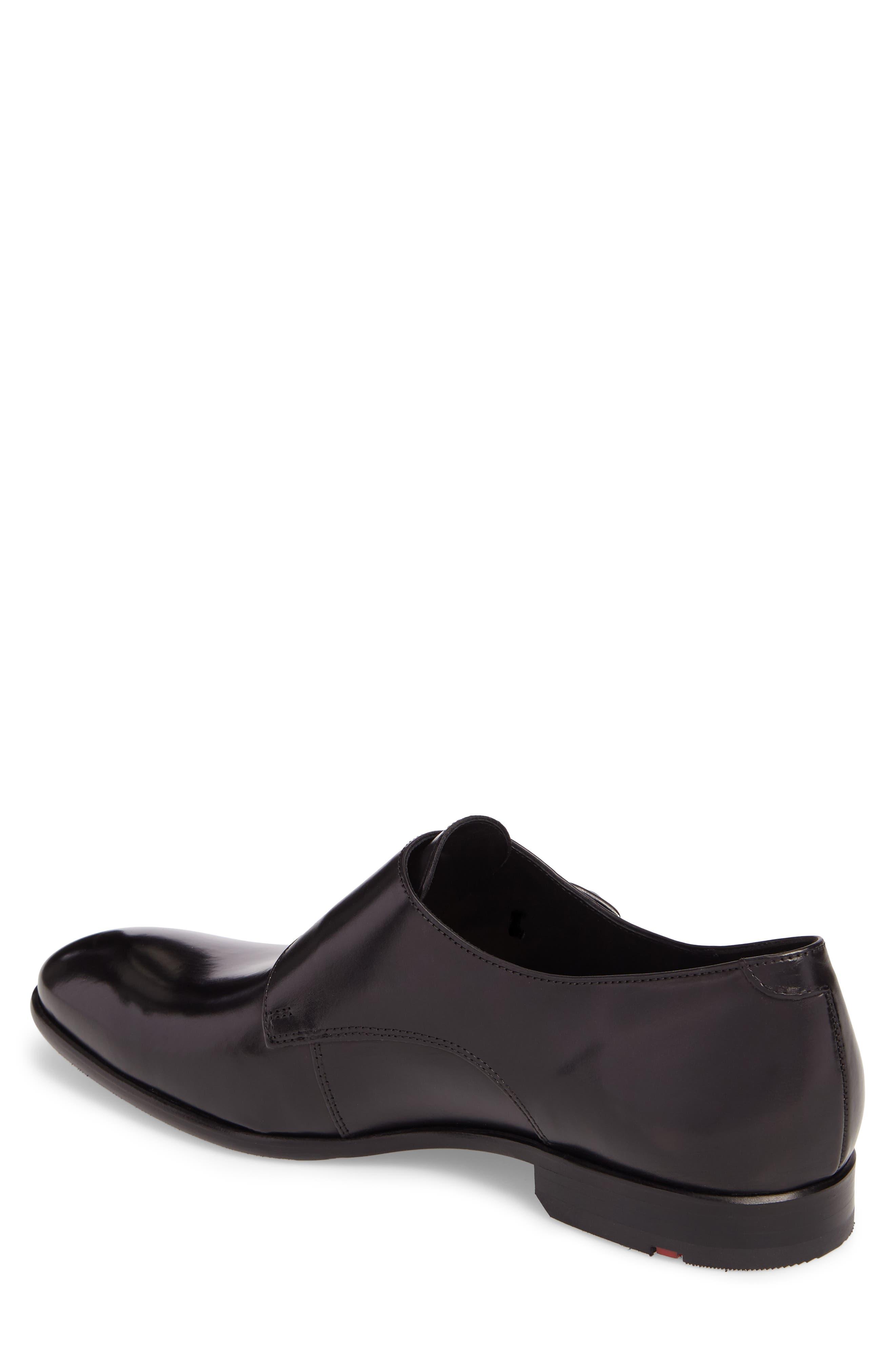 Michael Double Monk Strap Shoe,                             Alternate thumbnail 2, color,                             BLACK LEATHER