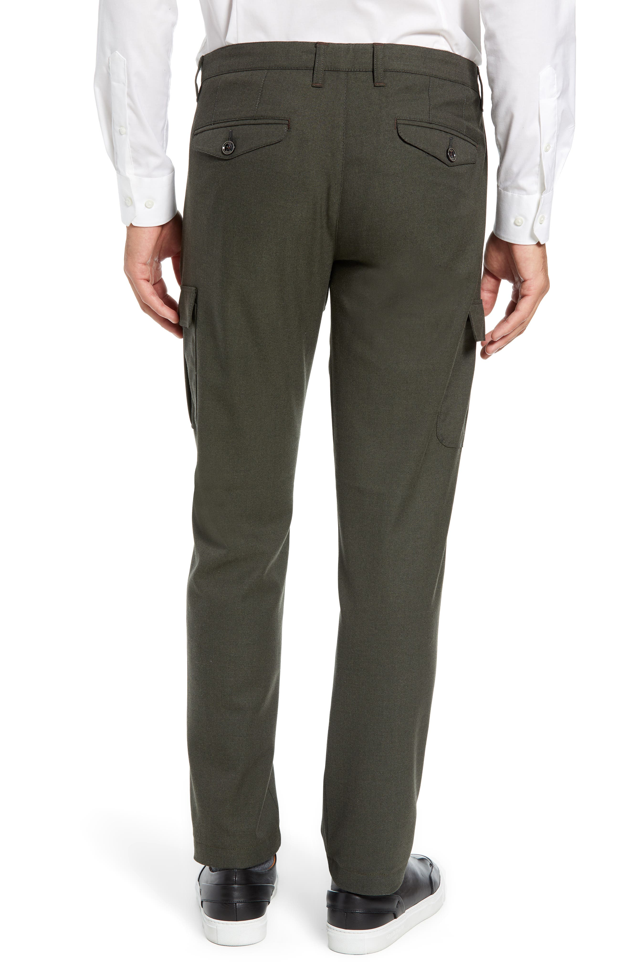 Zakery Slim Fit Utility Cargo Trousers,                             Alternate thumbnail 2, color,                             KHAKI