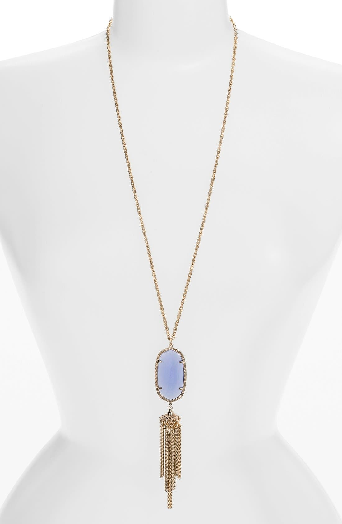 Rayne Stone Tassel Pendant Necklace,                             Main thumbnail 55, color,