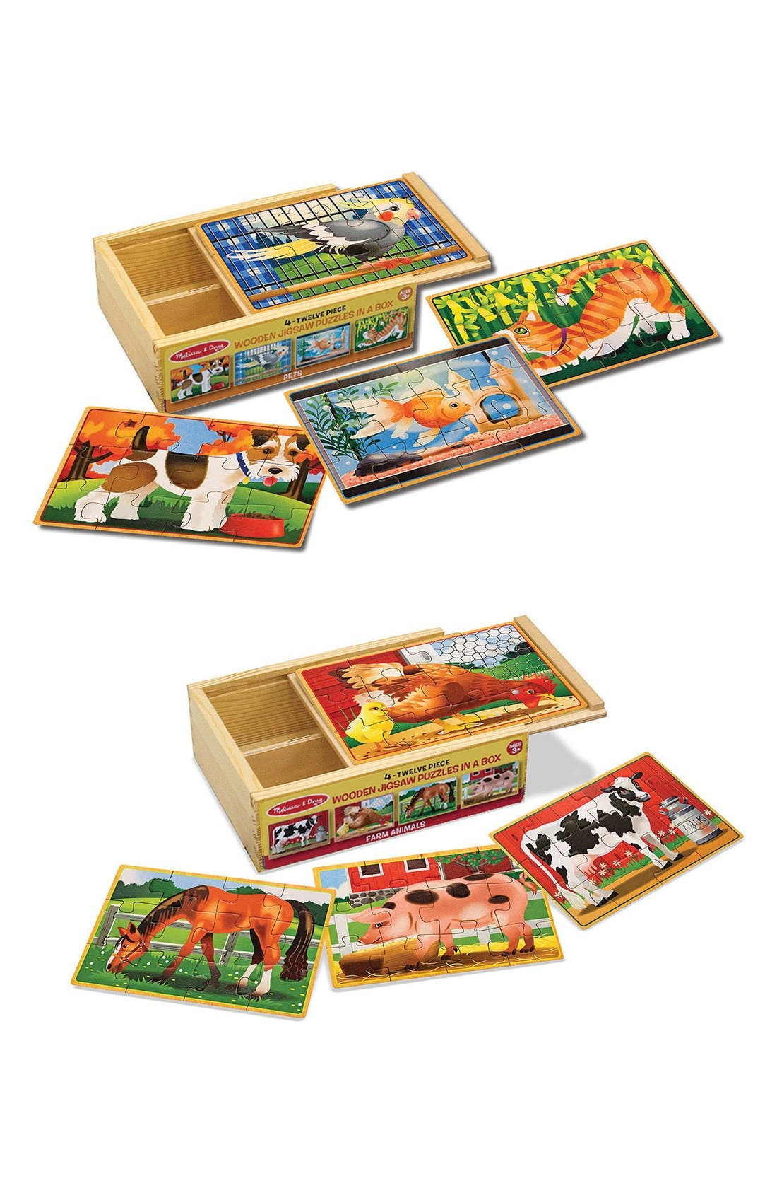 Pets and Farm Animals Puzzles,                             Main thumbnail 1, color,                             BROWN