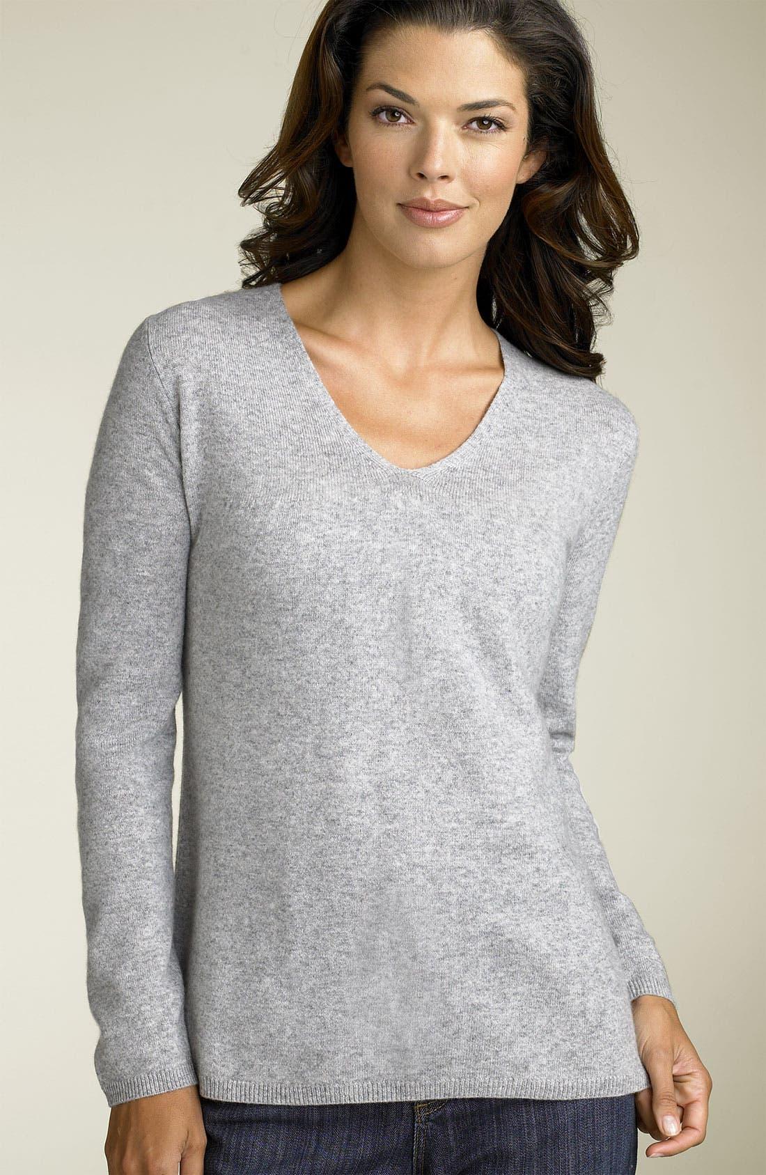 PREMISE CASHMERE Philosophy Dane Lewis V-Neck Cashmere Sweater, Main, color, 033