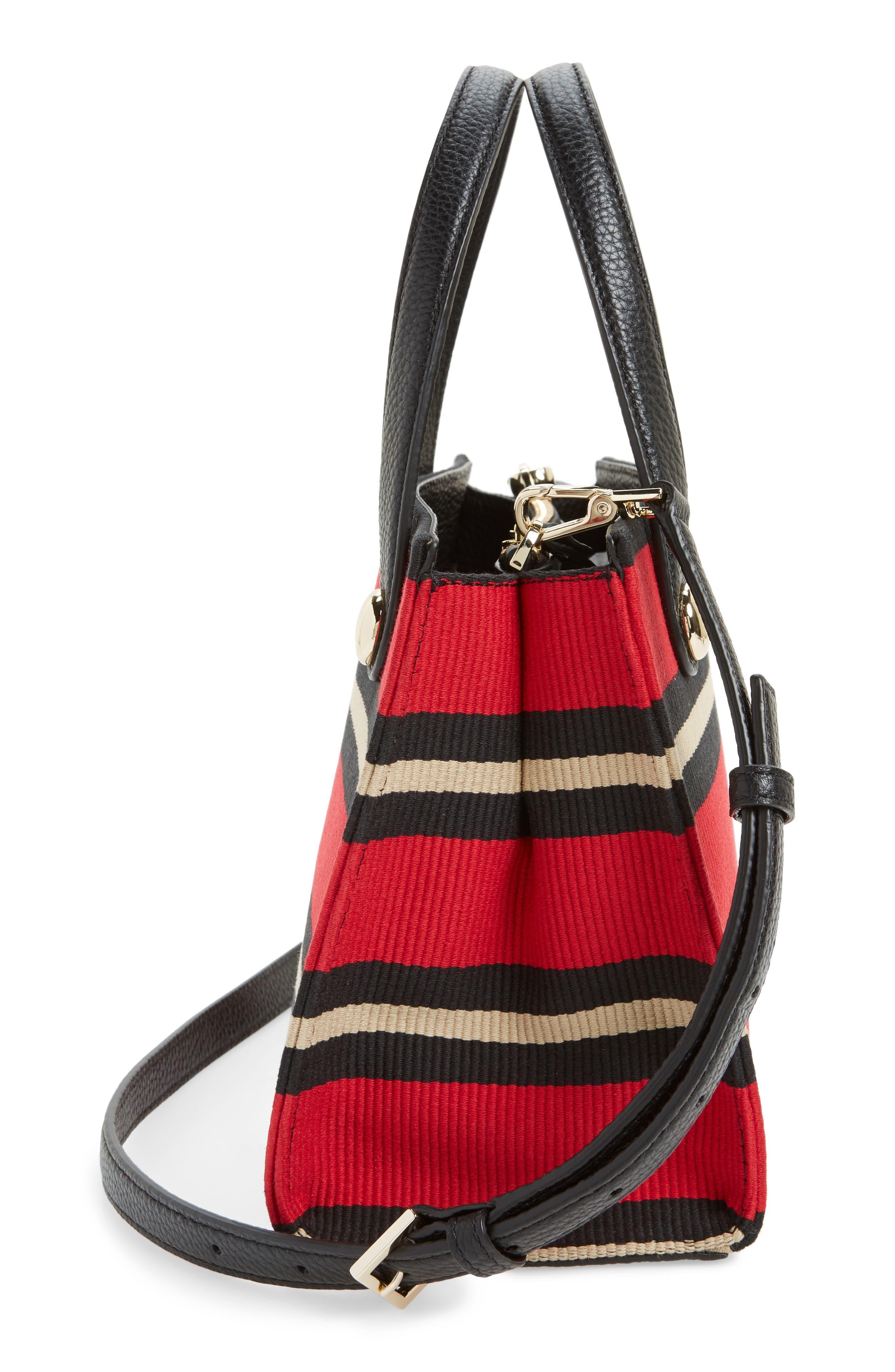 stewart street - little joy stripe grosgrain satchel,                             Alternate thumbnail 5, color,                             600