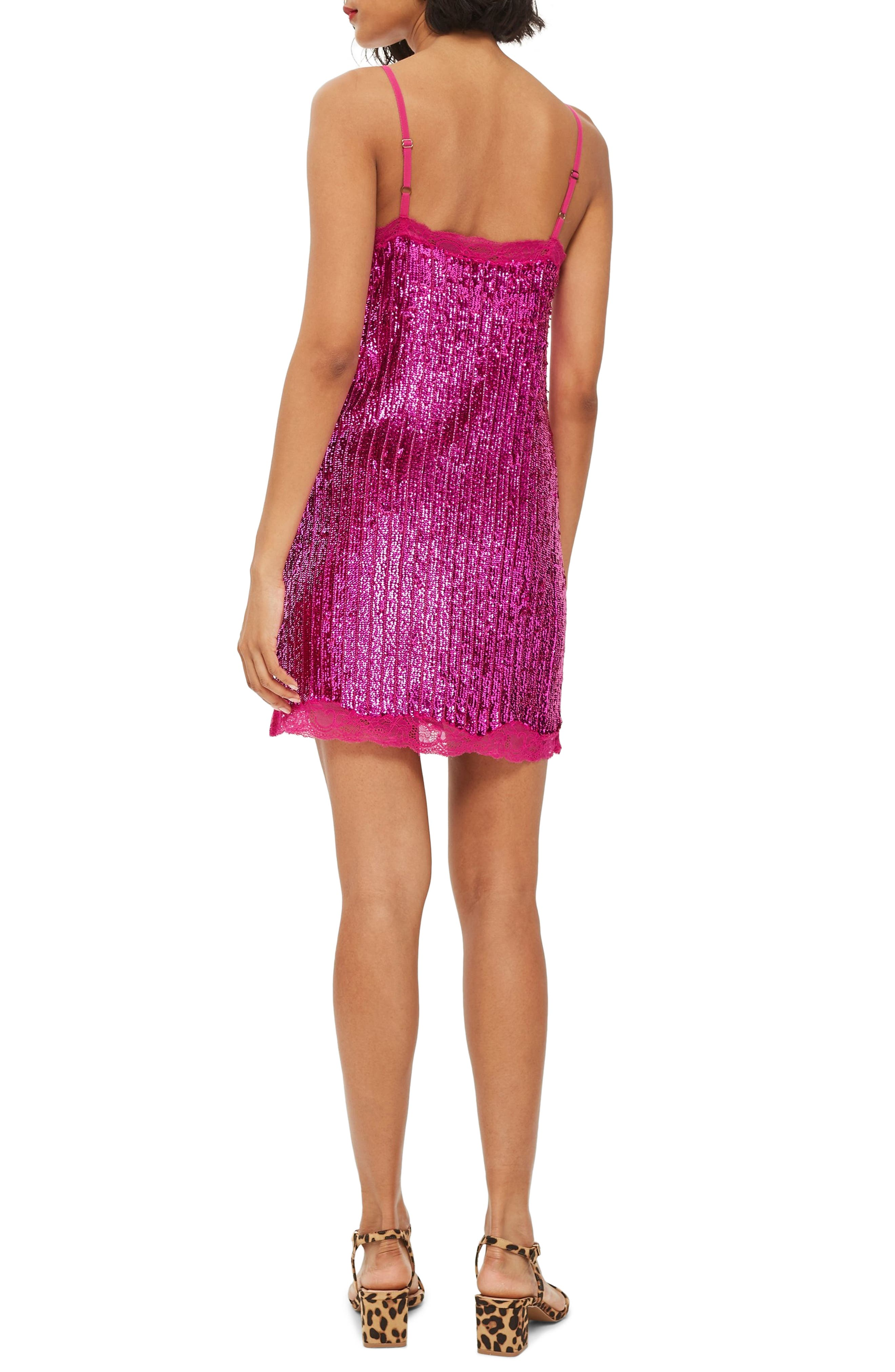 Sequin Slipdress,                             Alternate thumbnail 2, color,                             PINK