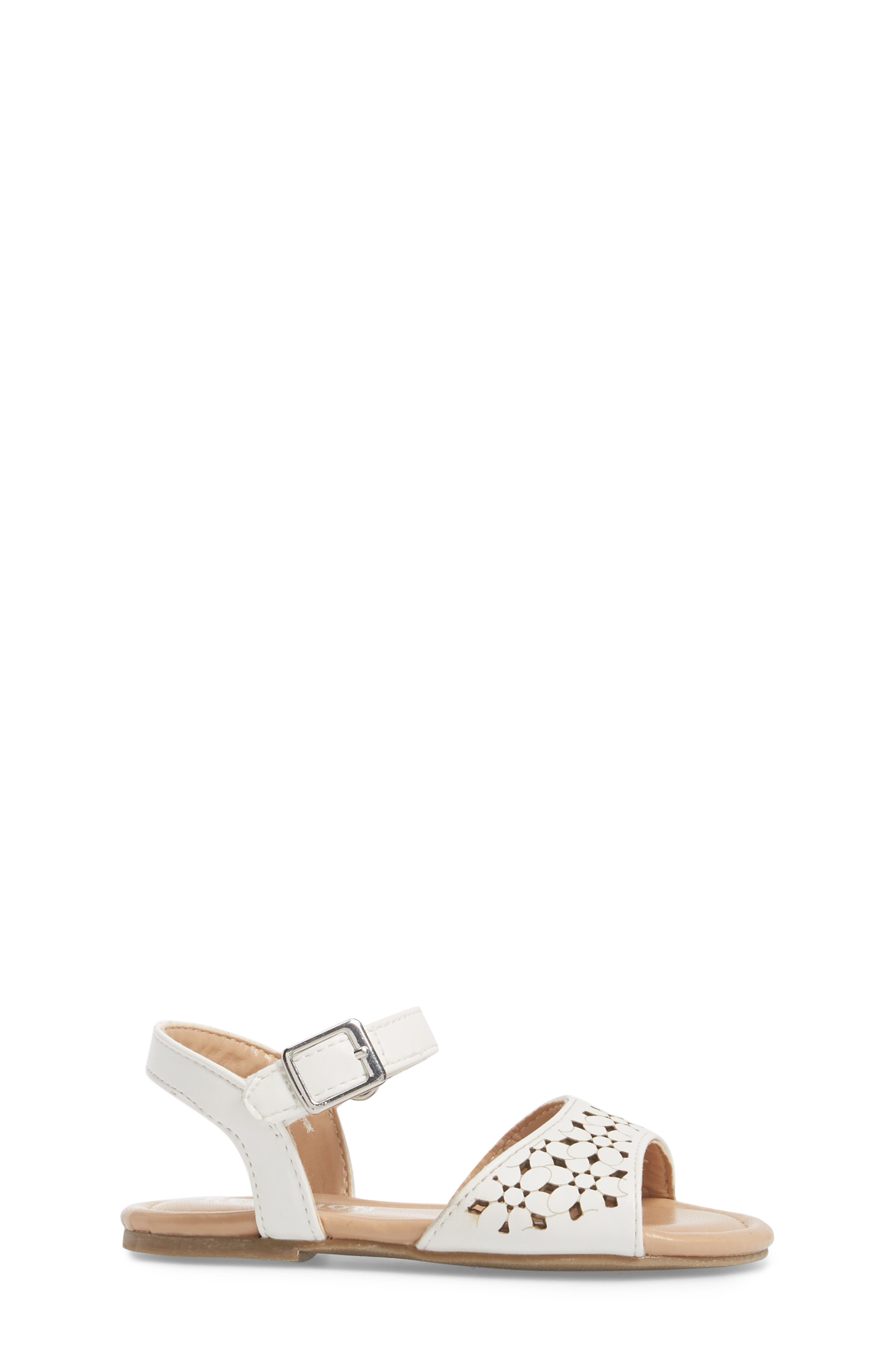 Kiera Perforated Sandal,                             Alternate thumbnail 3, color,                             100