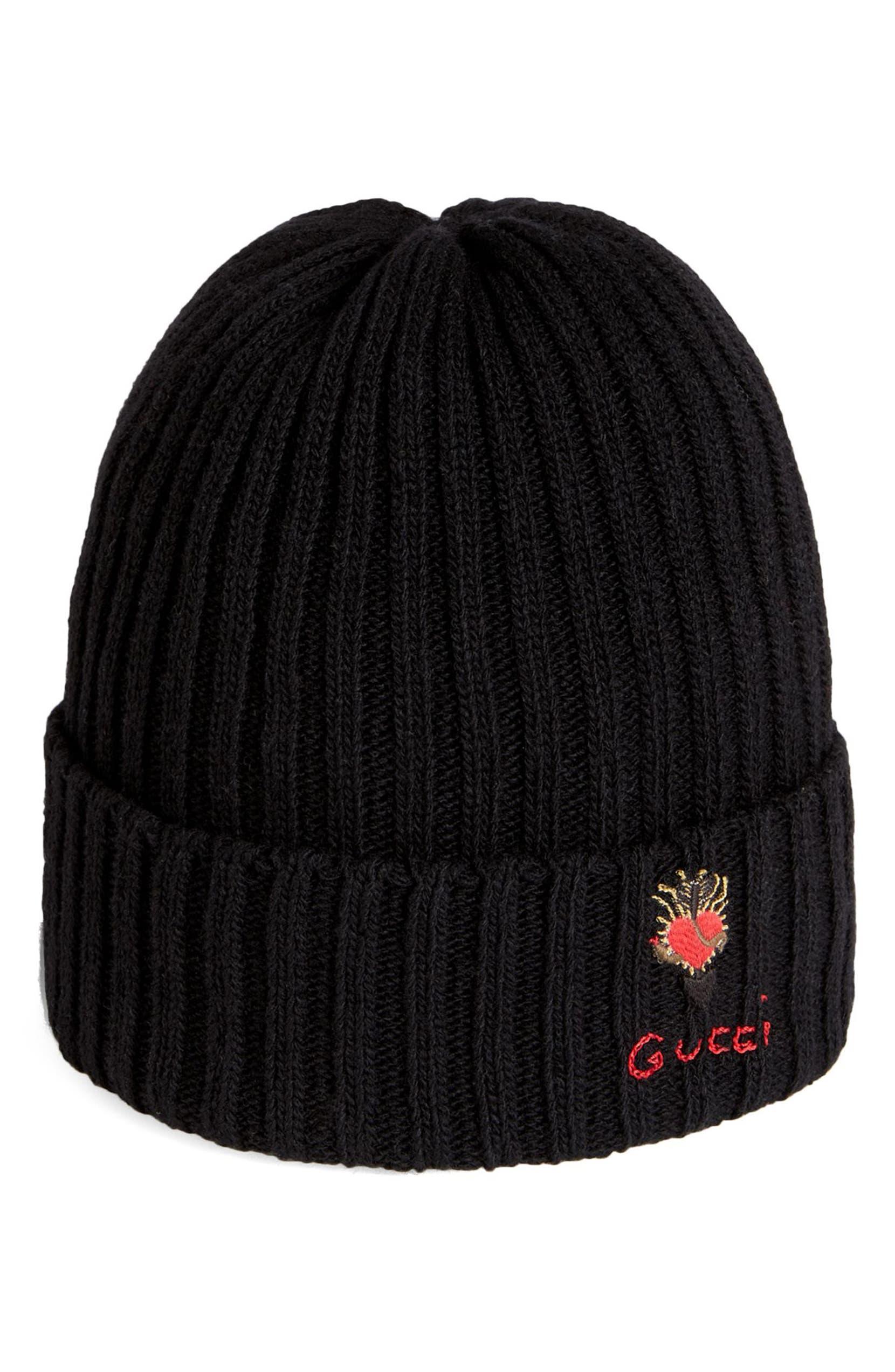 Gucci Heart Dagger Wool Beanie  8b4d2188199