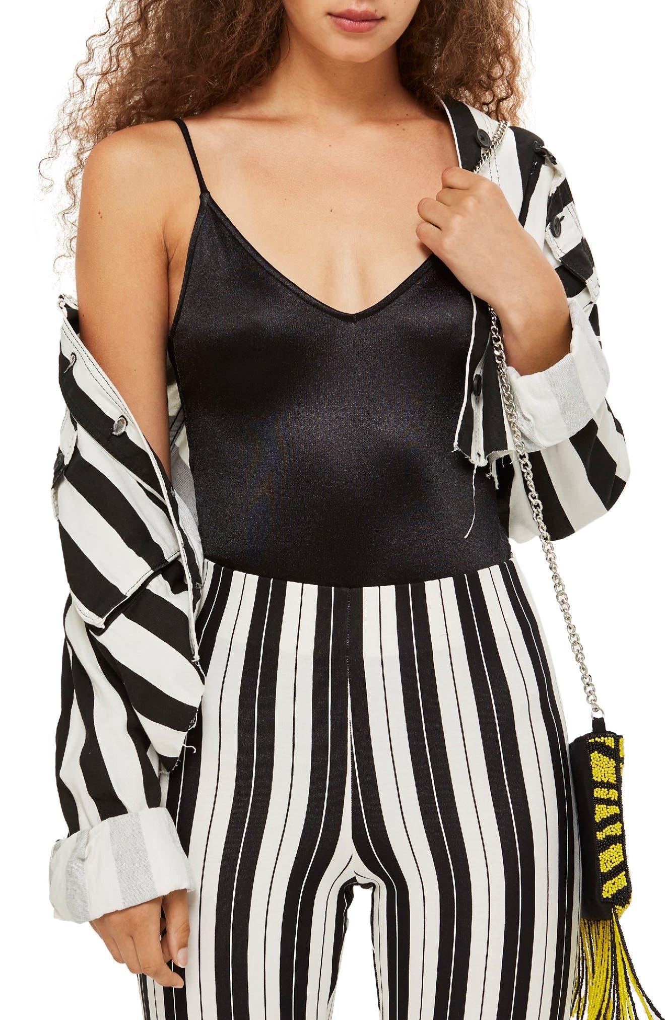 Disco Bodysuit,                         Main,                         color, BLACK