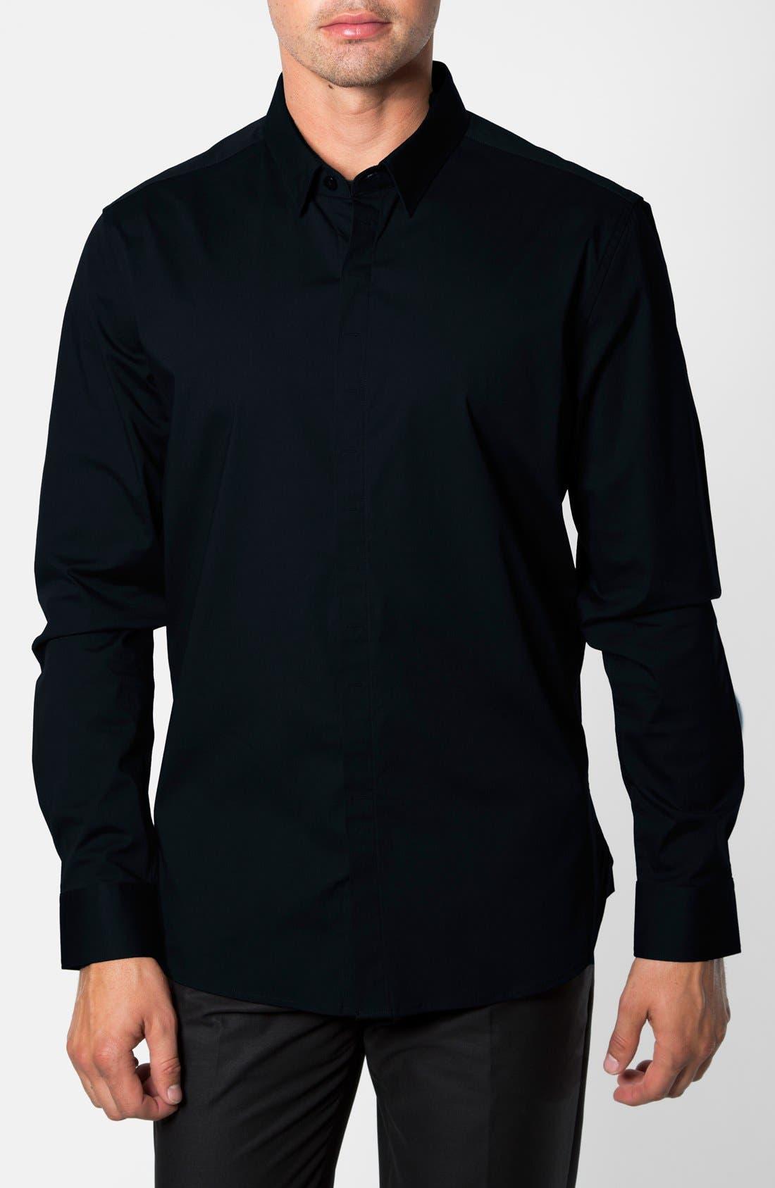 'Peace Train' Trim Fit Woven Shirt,                             Main thumbnail 1, color,