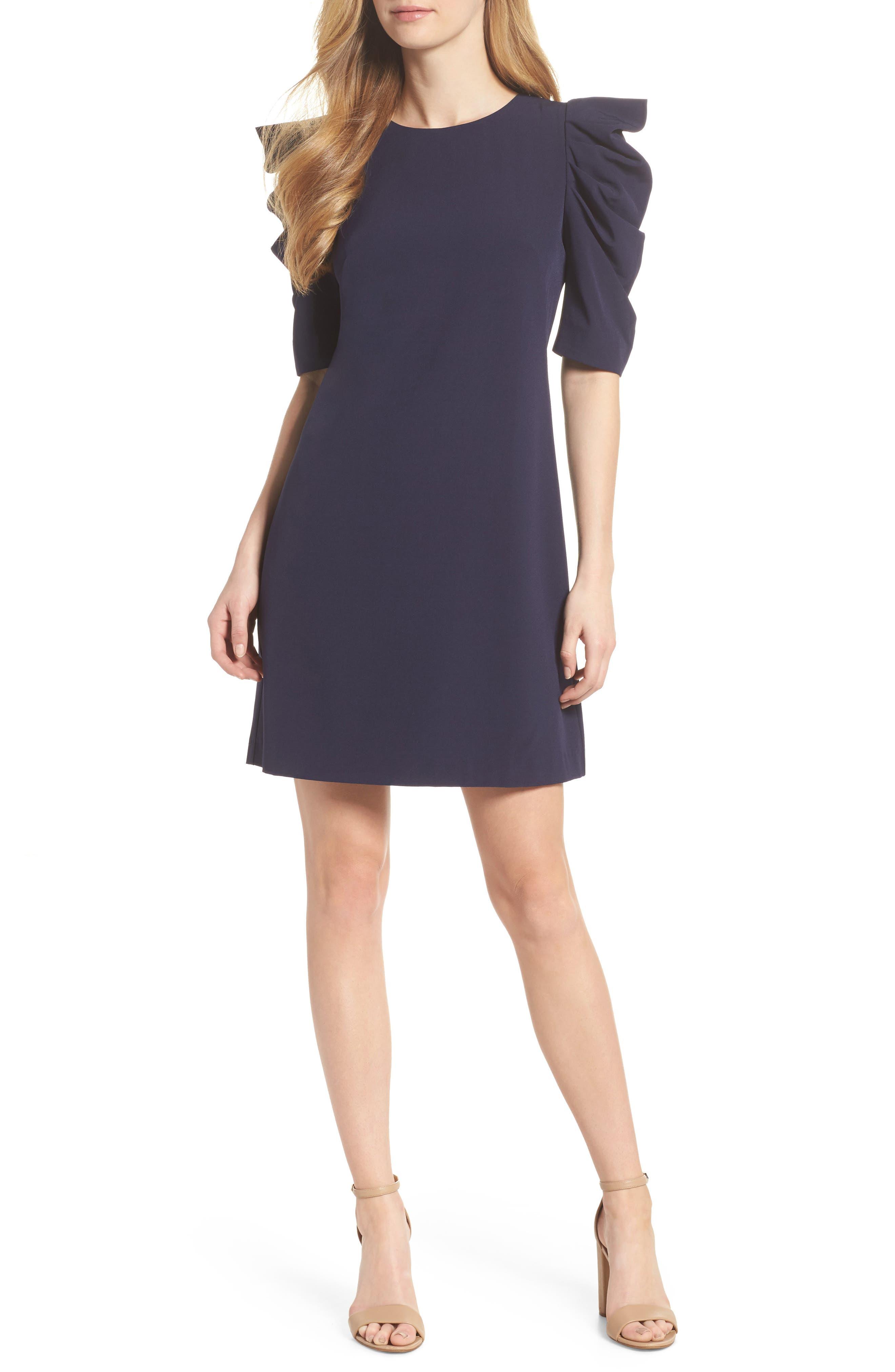Puff Sleeve Shift Dress,                         Main,                         color, 410