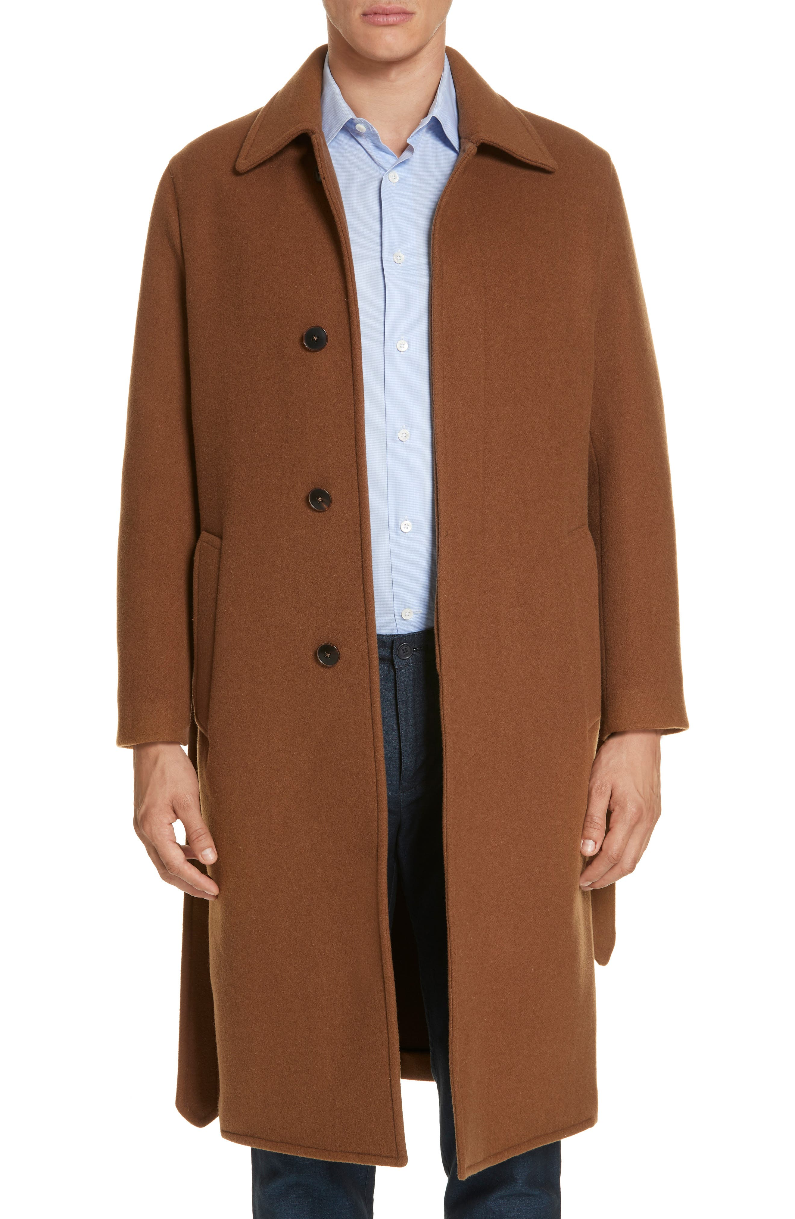 Wool & Cashmere Trench Coat,                             Main thumbnail 1, color,                             TAN