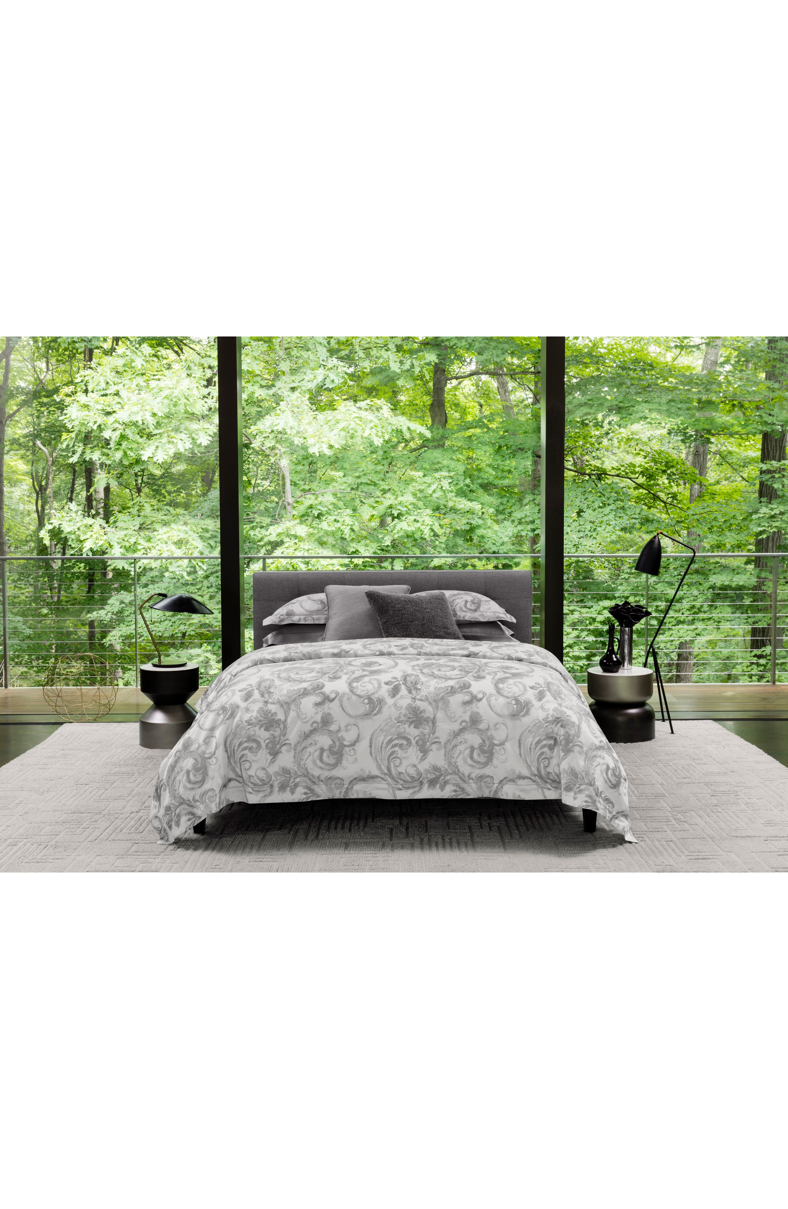SFERRA Isella Duvet Cover, Main, color, STORM
