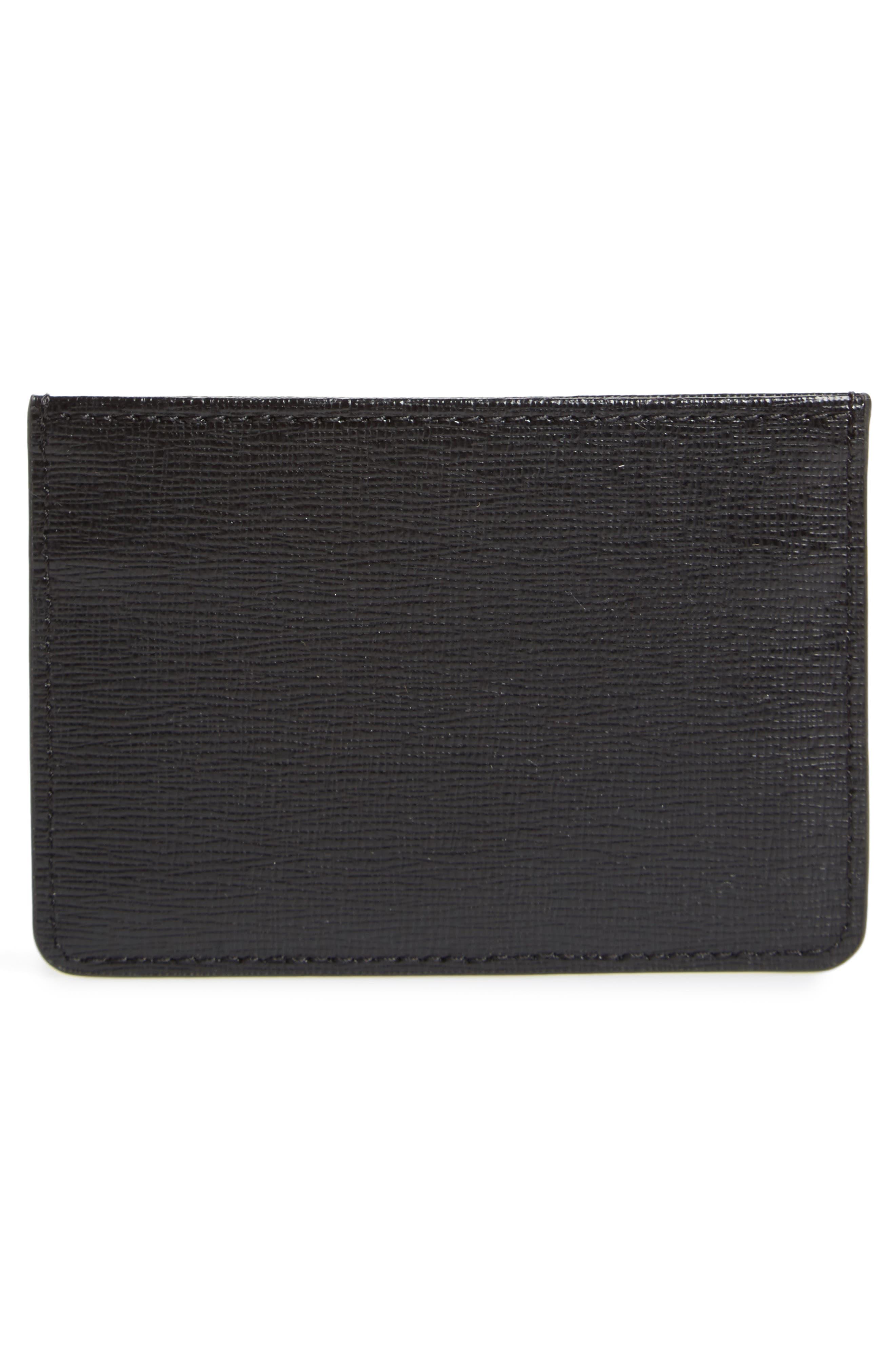 Gioia Saffiano Leather Card Case,                             Alternate thumbnail 2, color,                             004