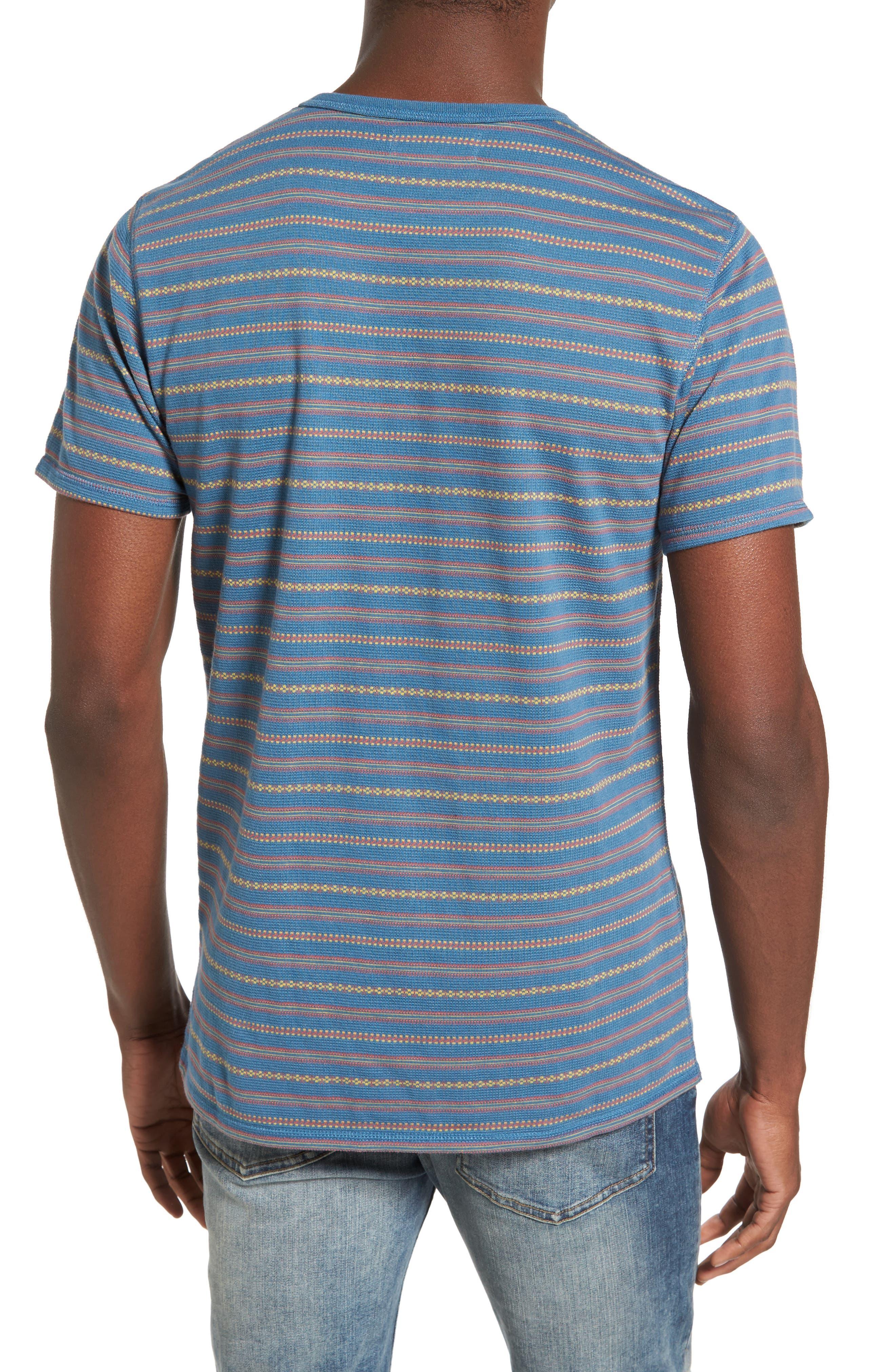 Jacquard Stripe Pocket T-Shirt,                             Alternate thumbnail 2, color,                             420