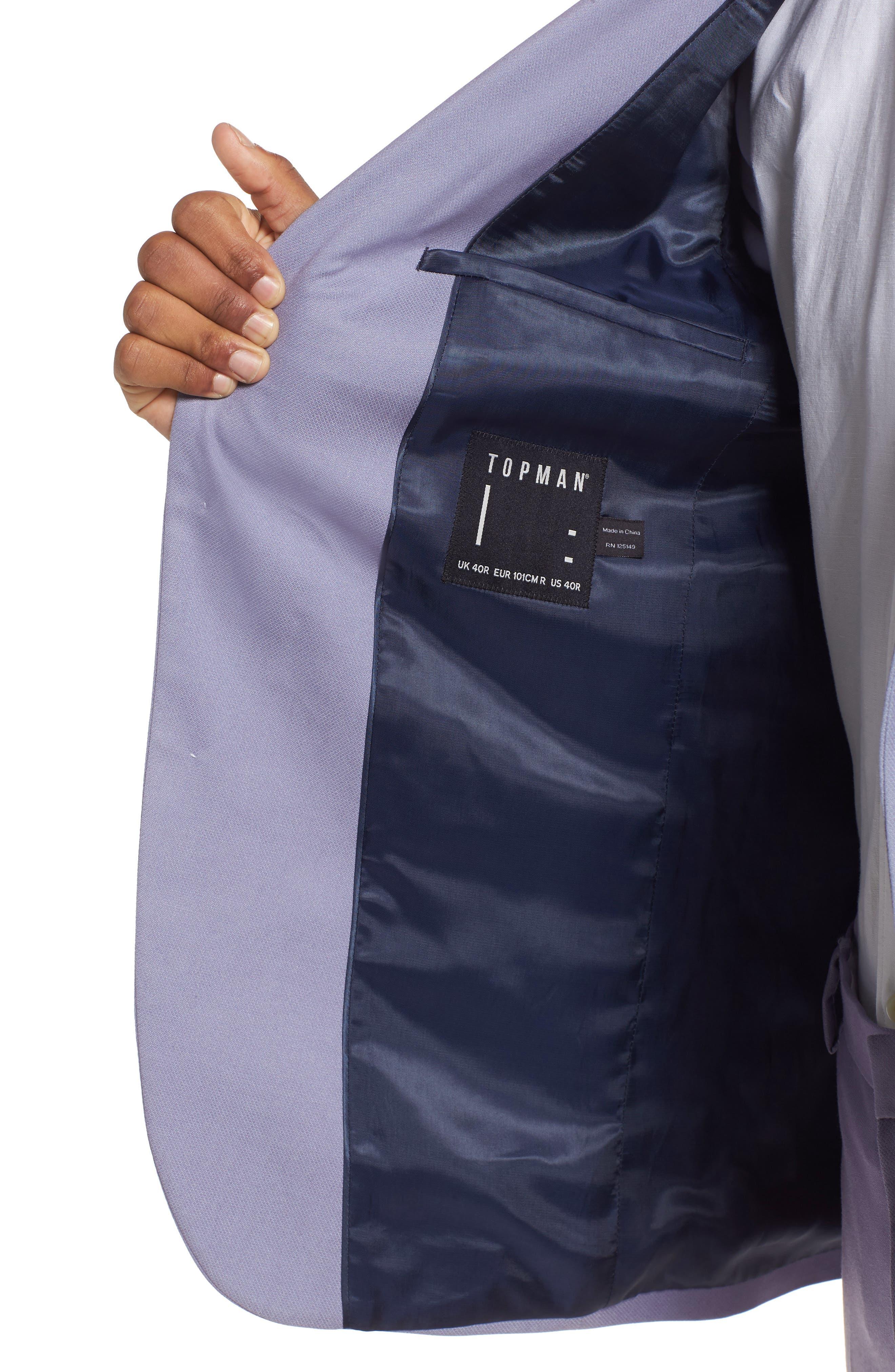 Skinny Fit Suit Jacket,                             Alternate thumbnail 8, color,