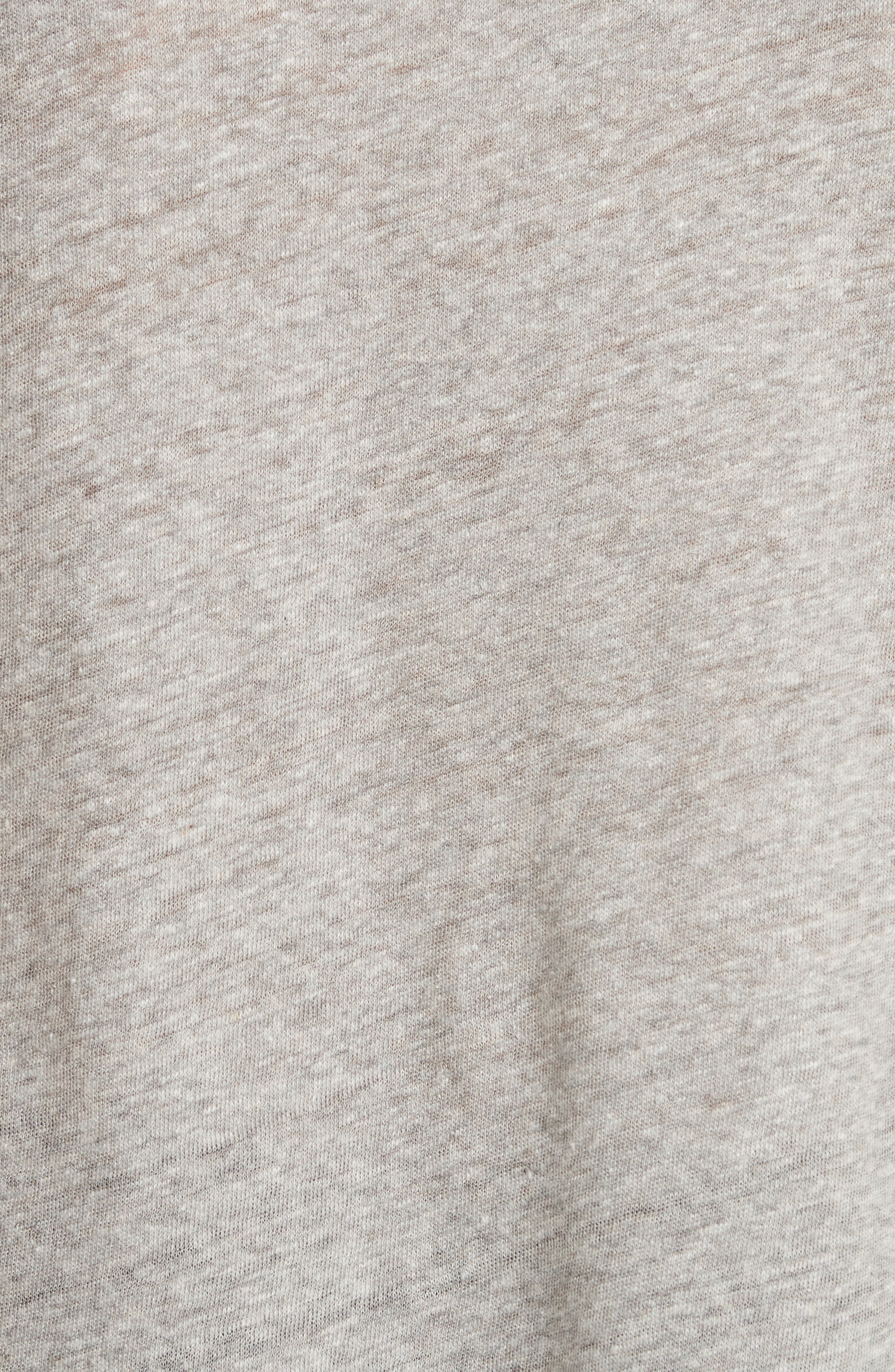 Washed Texture Jersey Tee,                             Alternate thumbnail 5, color,                             GREY HEATHER