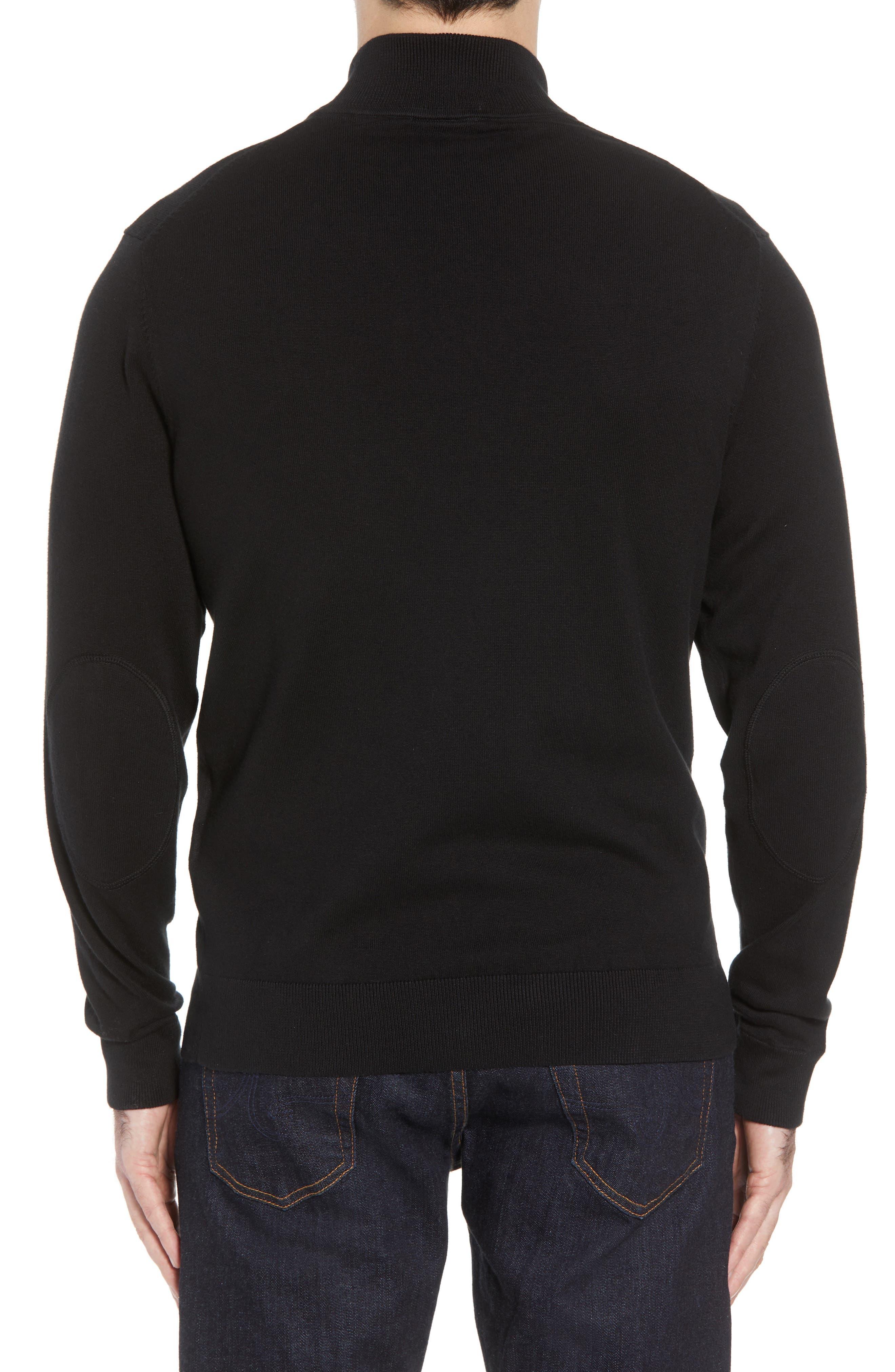 Baltimore Ravens - Lakemont Regular Fit Quarter Zip Sweater,                             Alternate thumbnail 2, color,                             BLACK