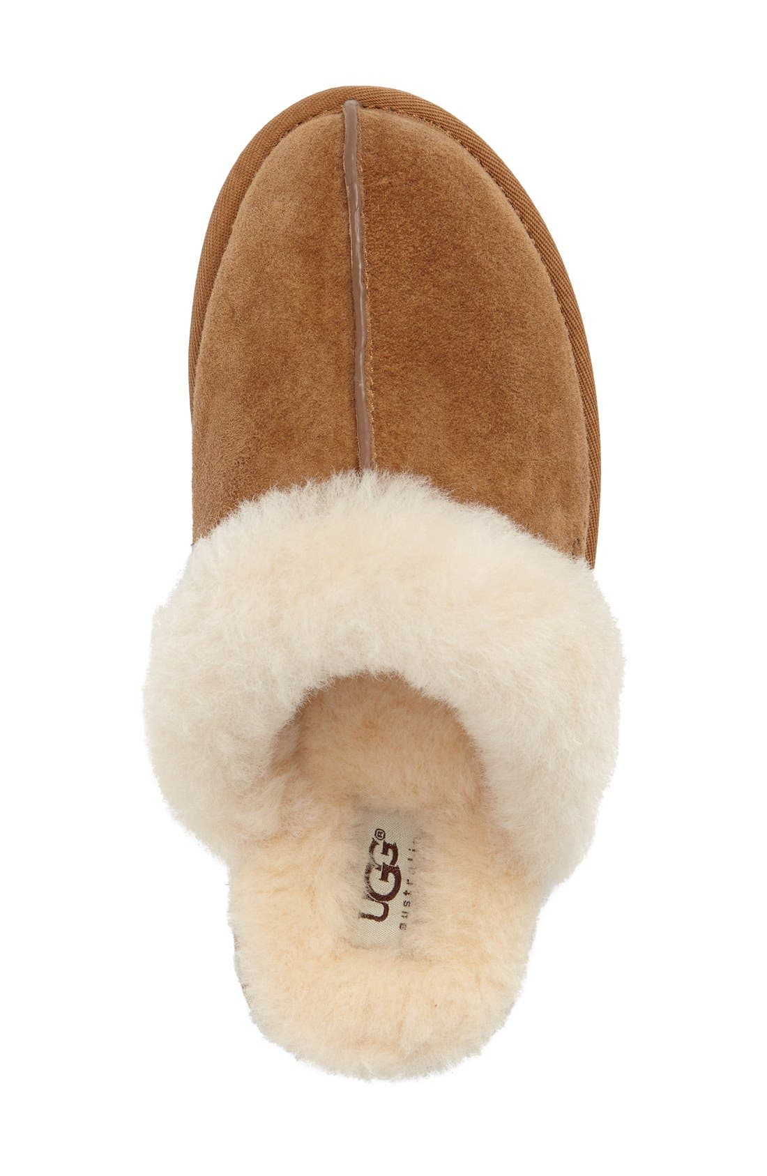 Scuffette II Water Resistant Slipper,                             Alternate thumbnail 5, color,                             CHESTNUT