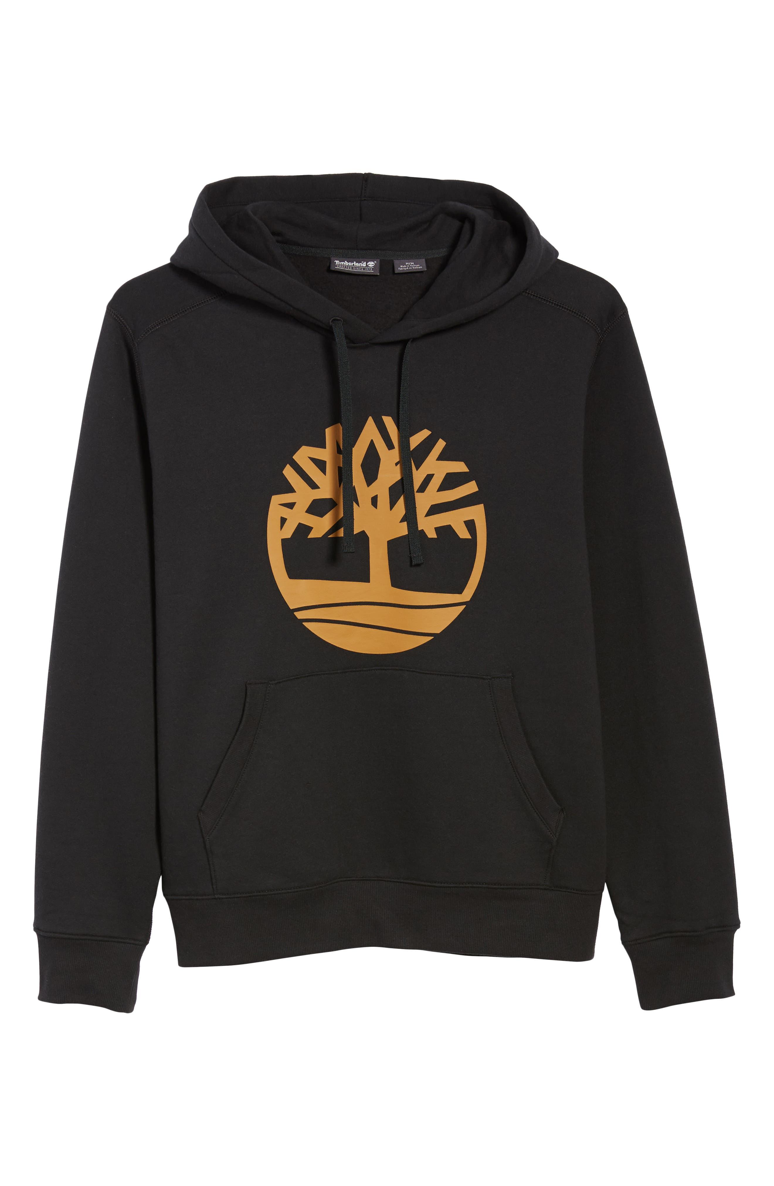 Logo Hoodie Sweatshirt,                             Alternate thumbnail 6, color,                             BLACK