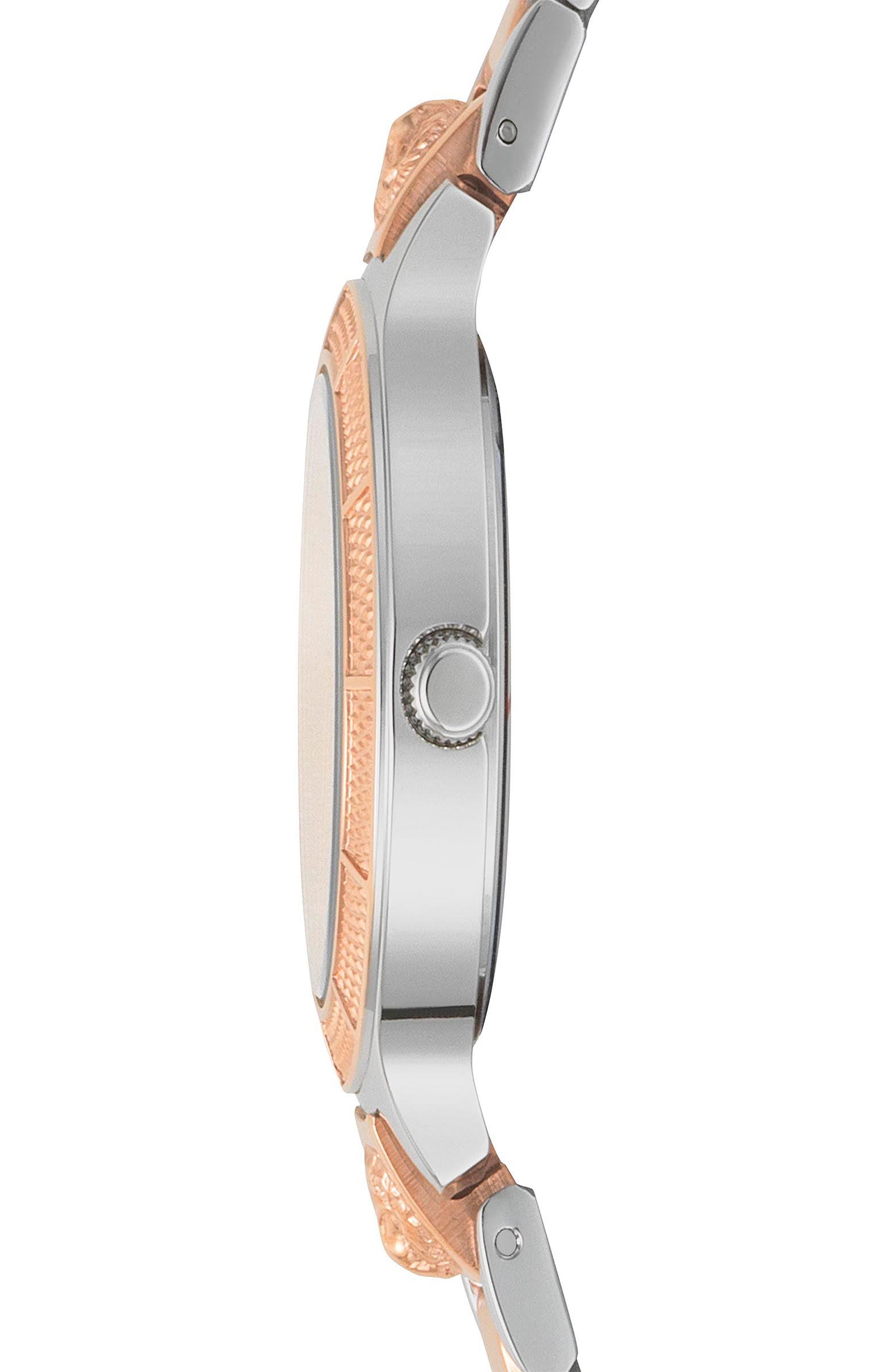 Claremont Bracelet Watch, 32mm,                             Alternate thumbnail 2, color,                             SILVER/ ROSE GOLD