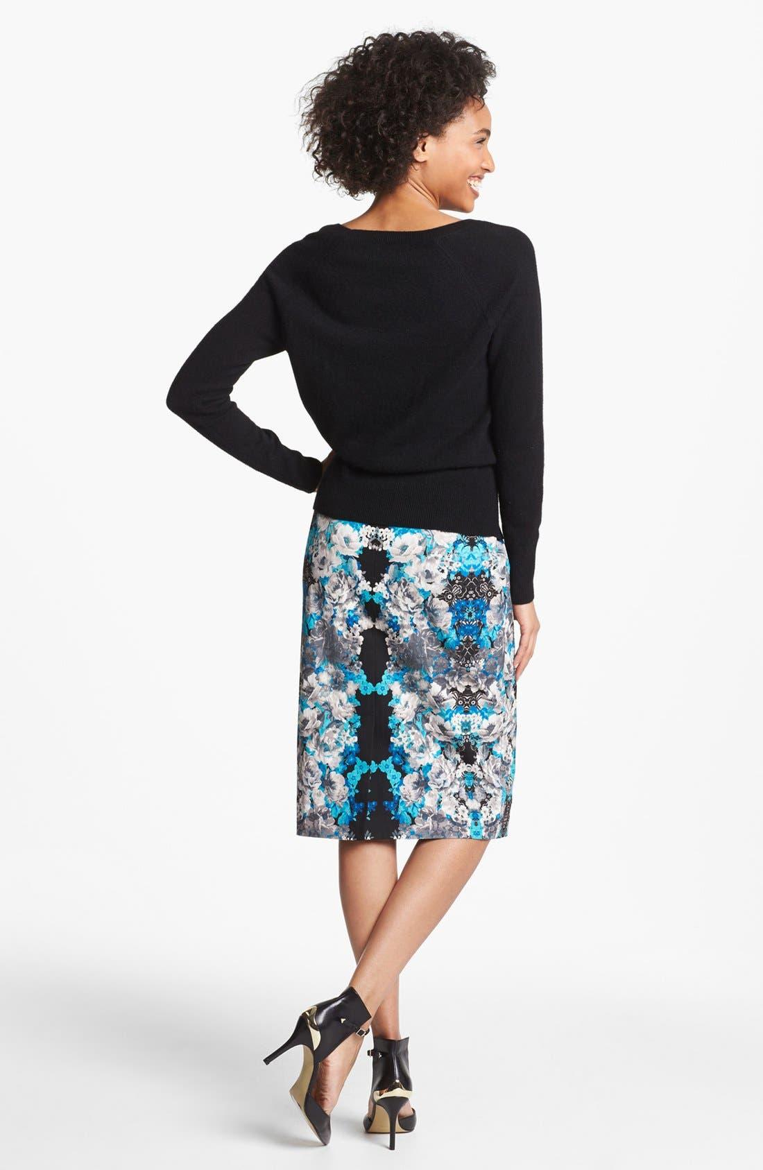 Print Pencil Skirt,                             Alternate thumbnail 37, color,