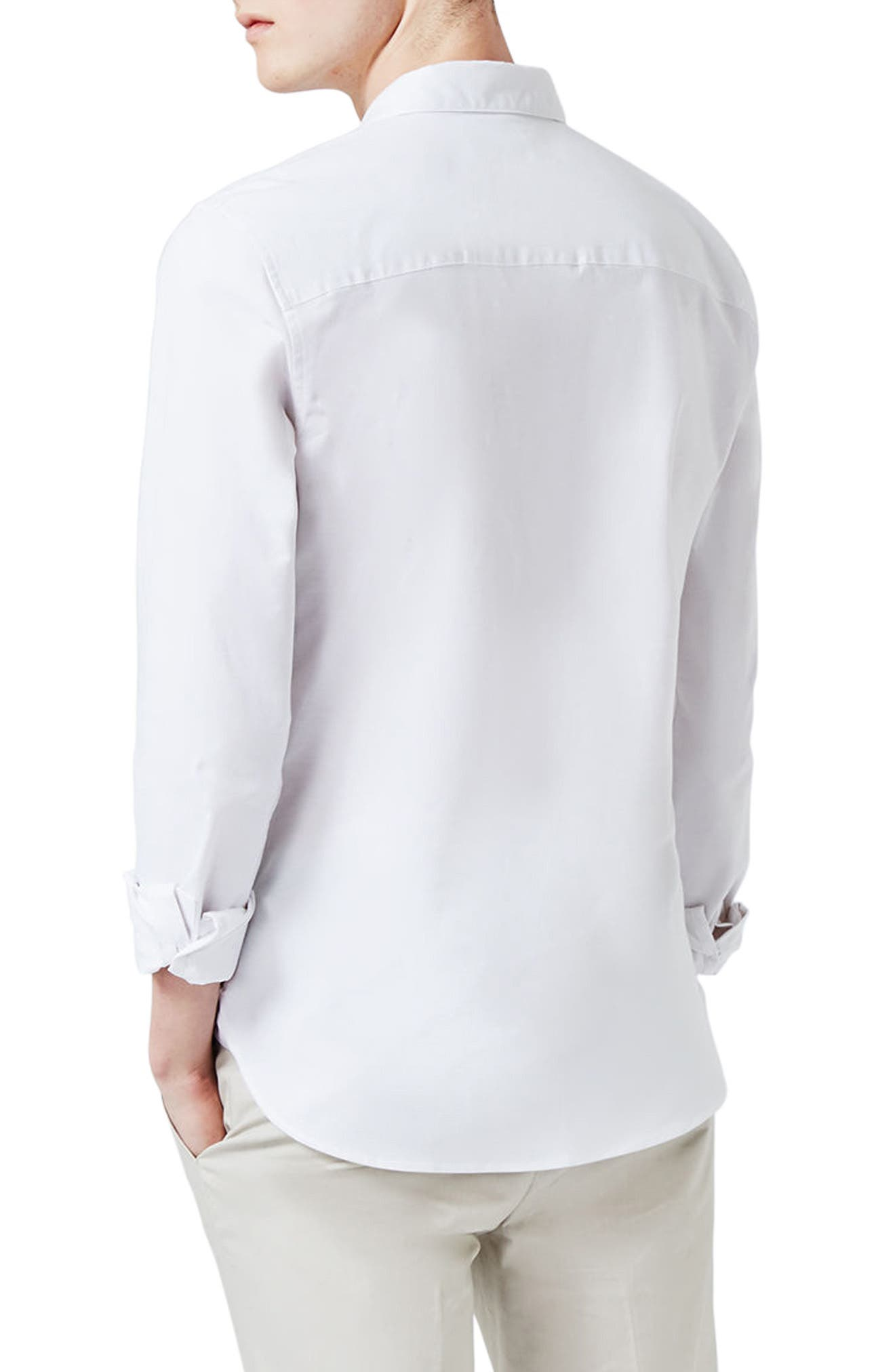 Muscle Fit Oxford Shirt,                             Alternate thumbnail 2, color,                             100