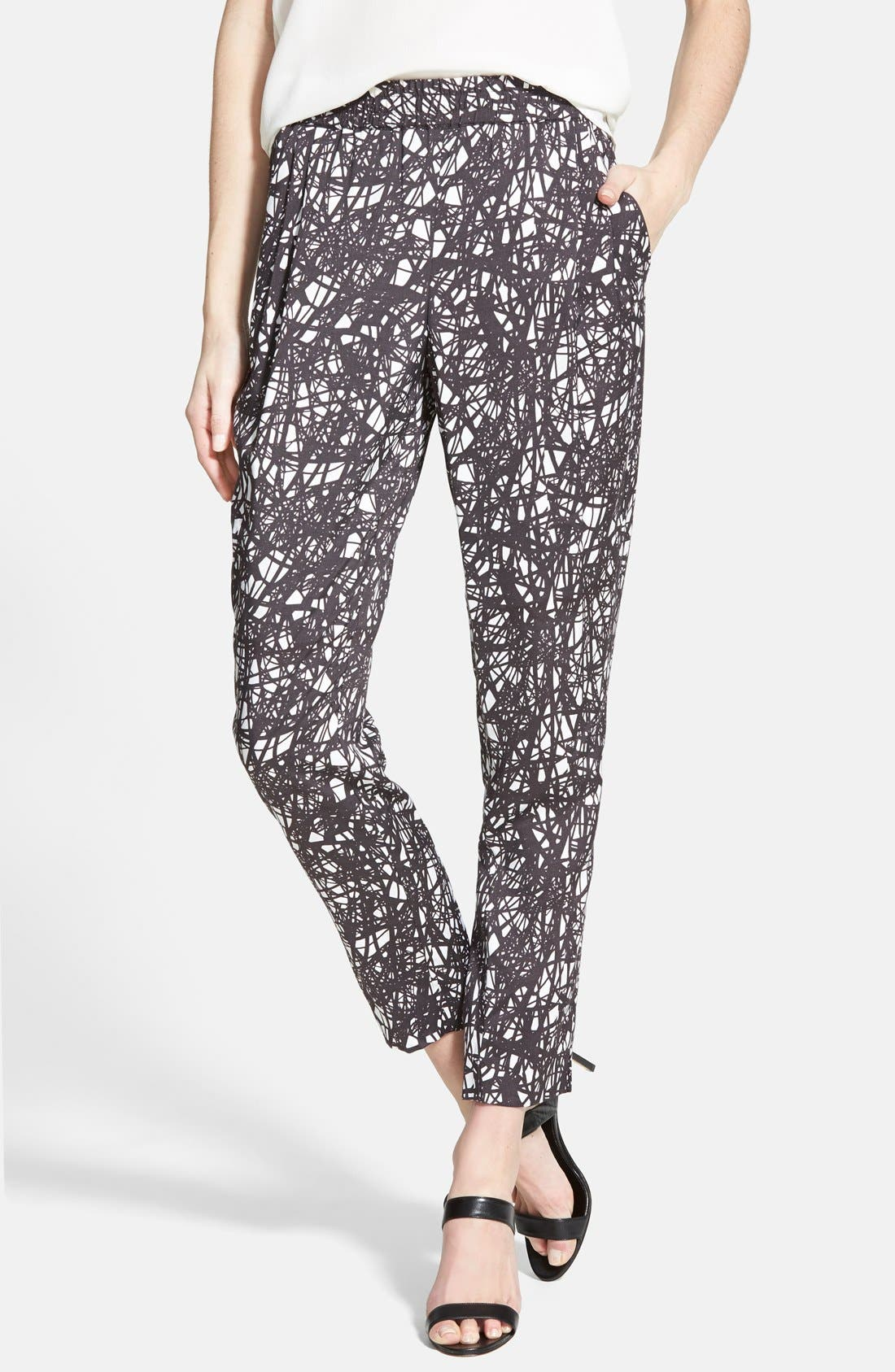 Print Pull-On Pants, Main, color, 001