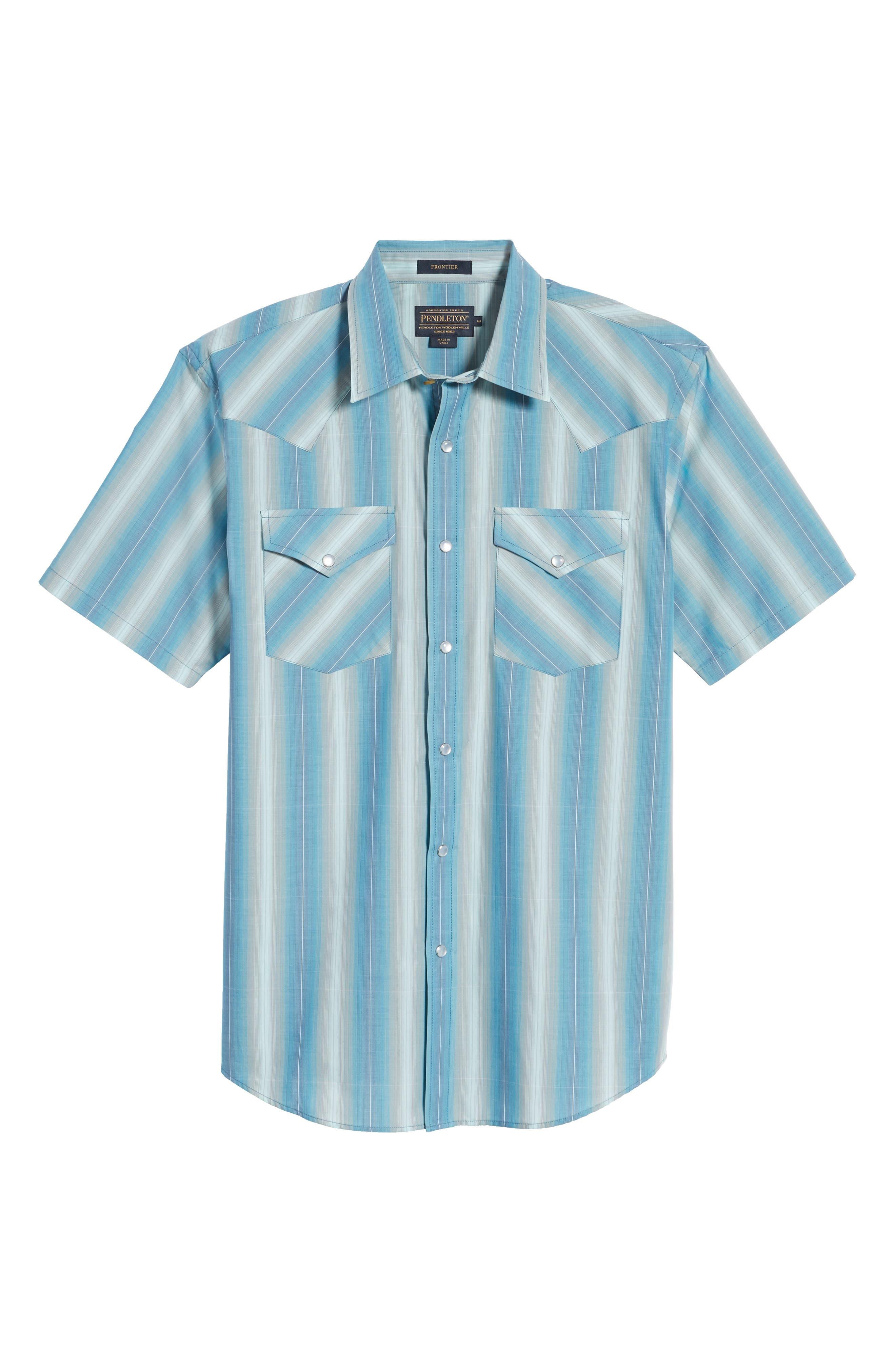 Frontier Regular Fit Plaid Short Sleeve Sport Shirt,                             Alternate thumbnail 12, color,